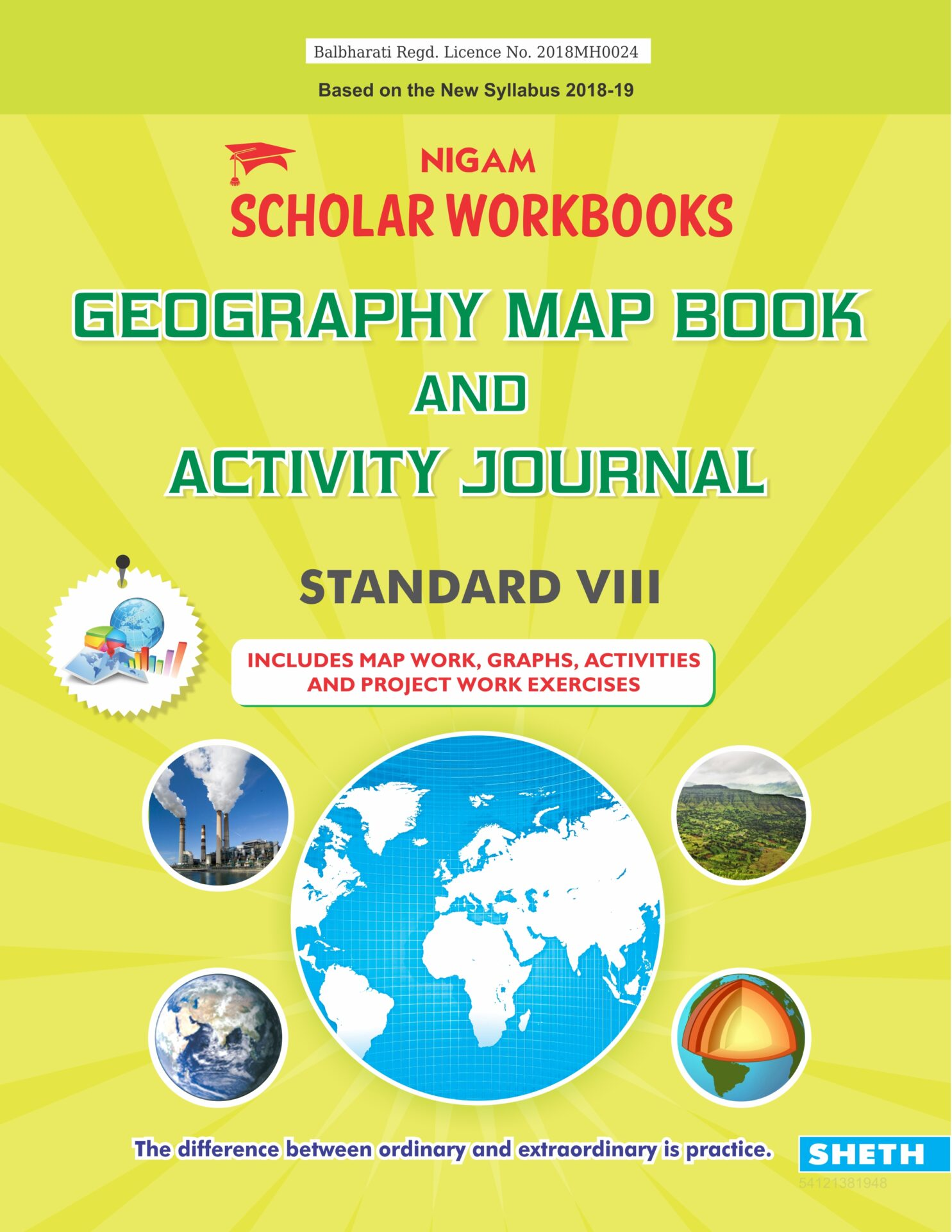 CCE Pattern Nigam Scholar Workbooks Geography Map Book and Activity Journal Standard 8 1