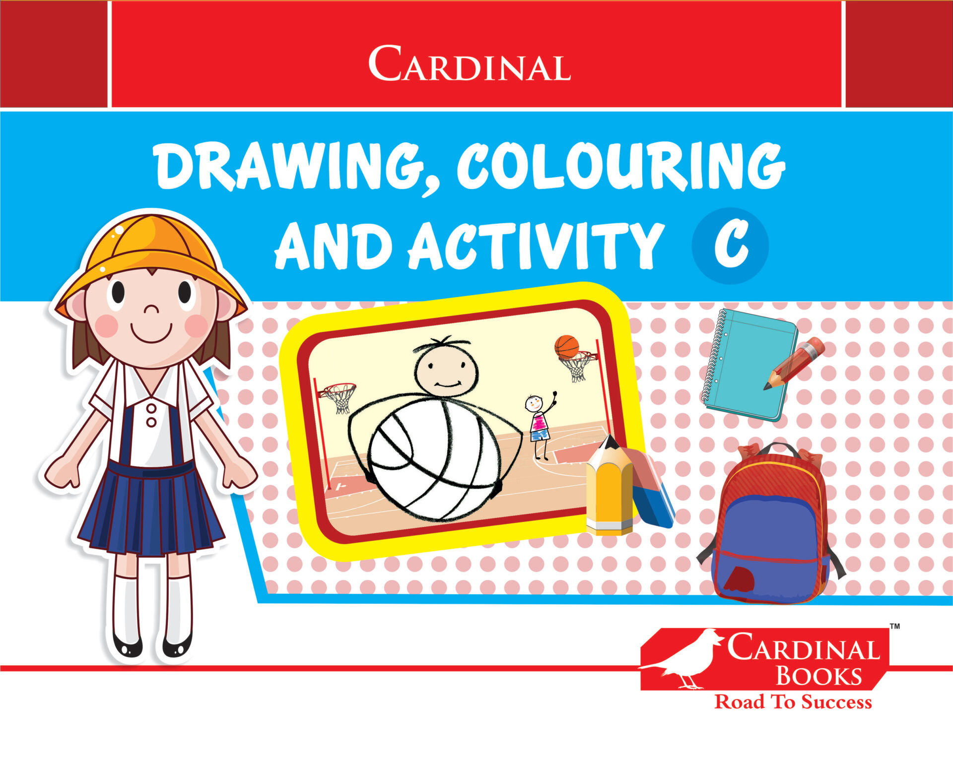 Cardinal Drawing Colouring and Activity C 1 1