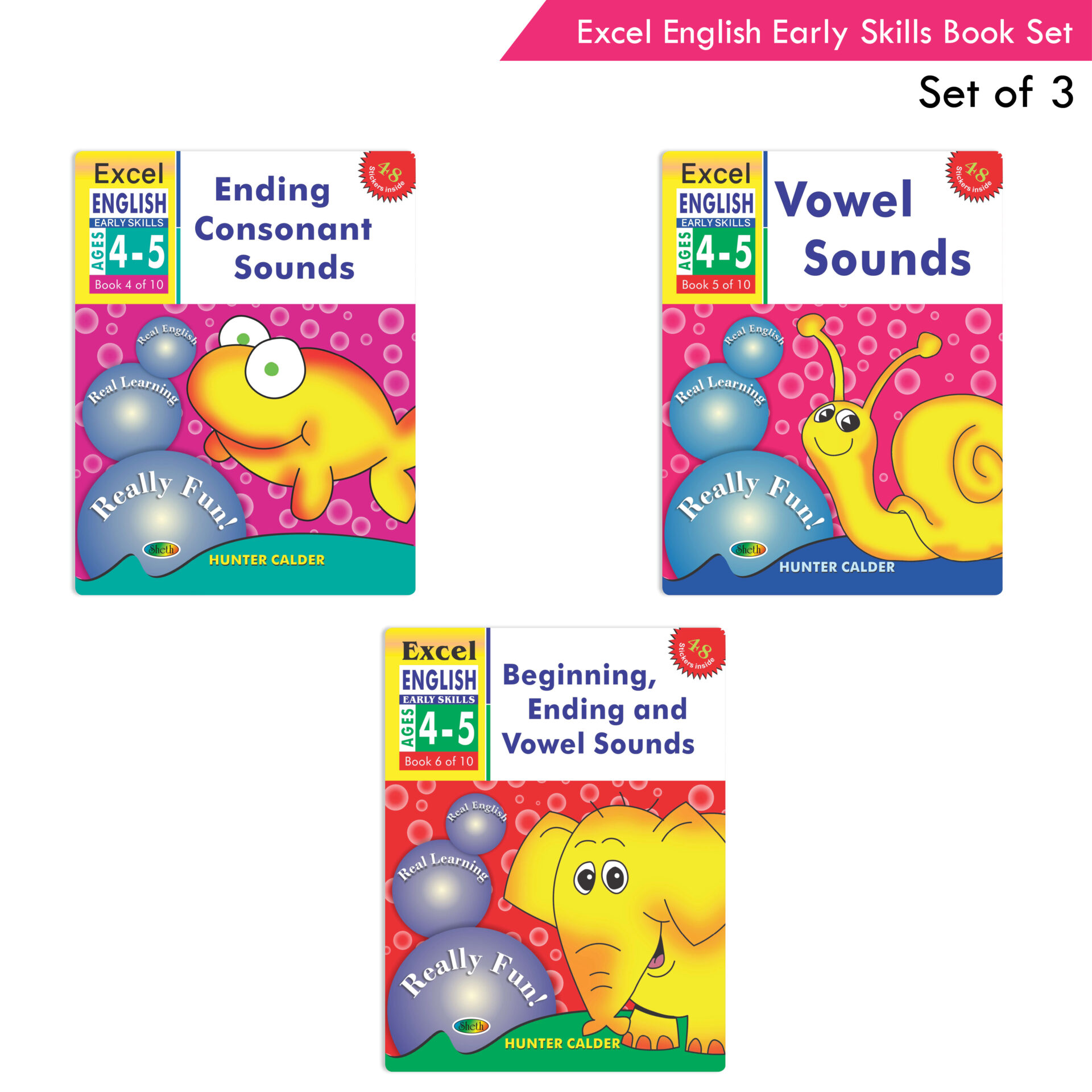 Excel English Early Skills Ages 4 5 Set of 3 1