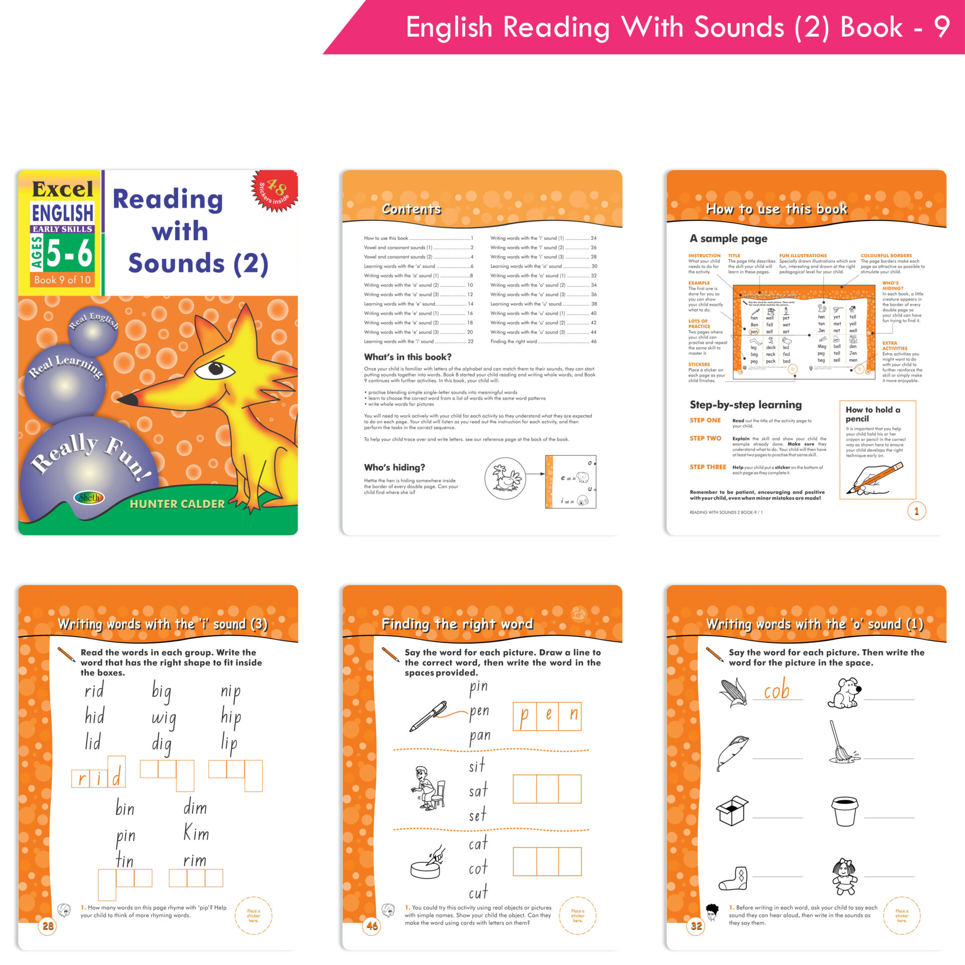 Excel English and Maths Early Skills Ages 3 6 Years Set of 19 2