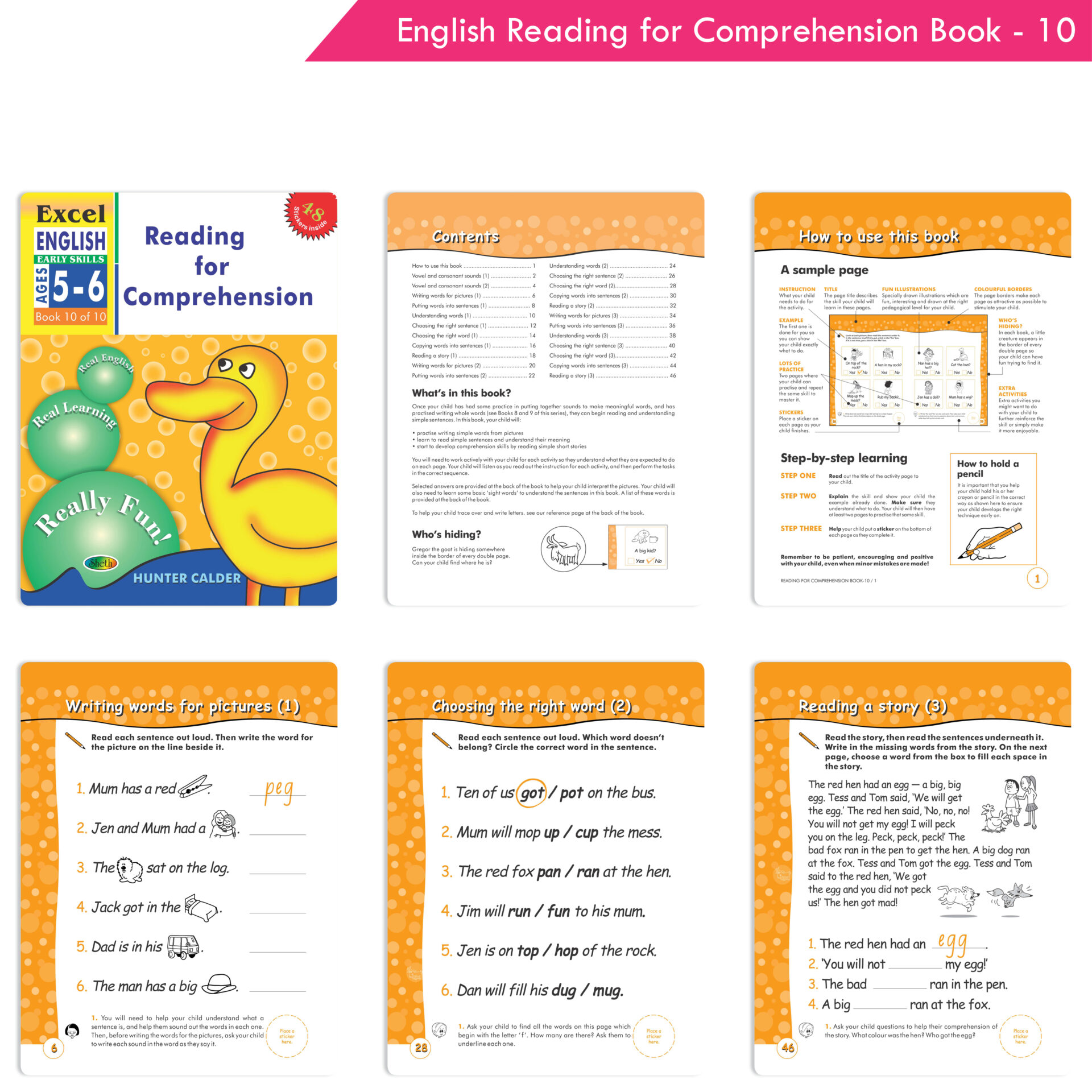 Excel English and Maths Early Skills Ages 3 6 Years Set of 19 3