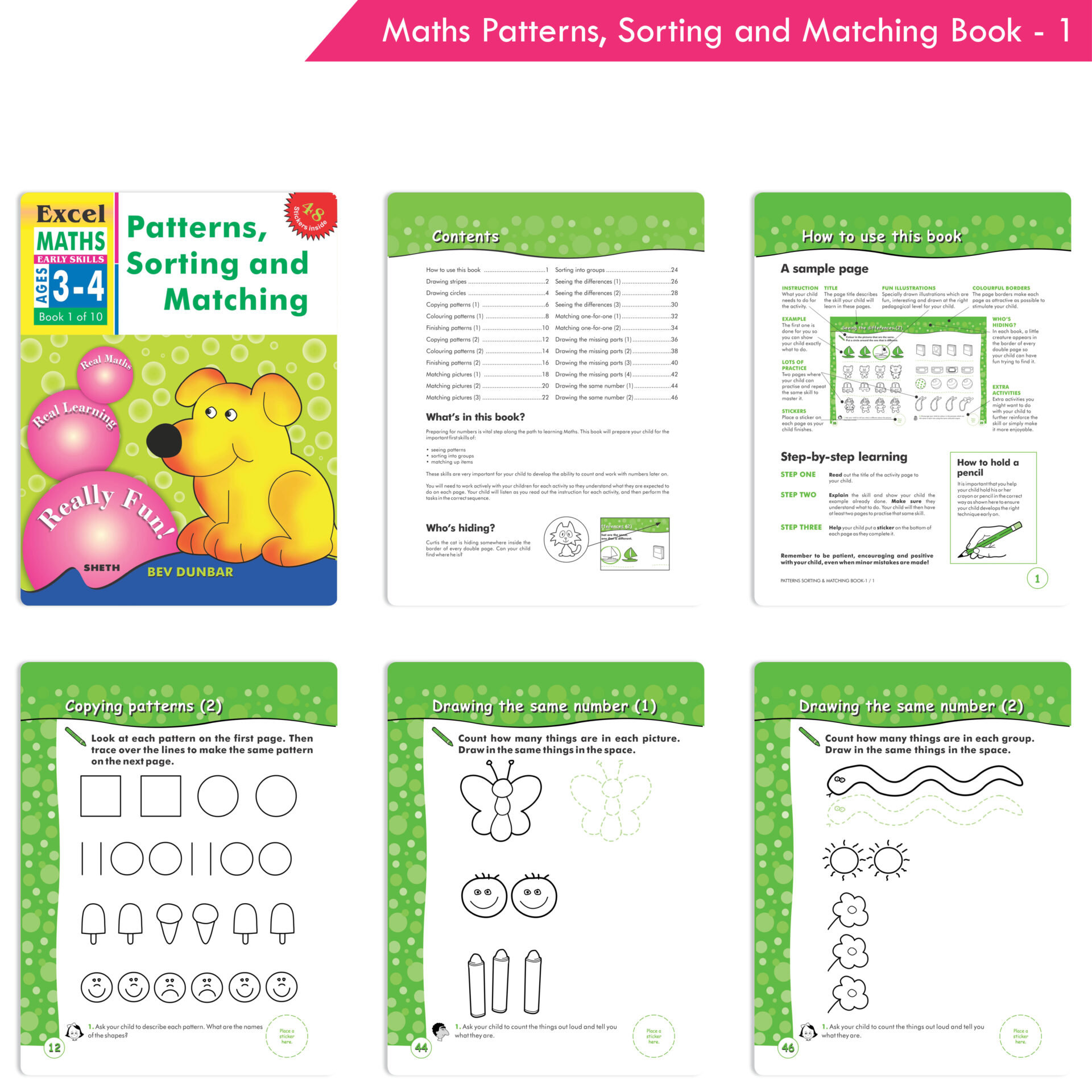 Excel English and Maths Early Skills Ages 3 6 Years Set of 19 4