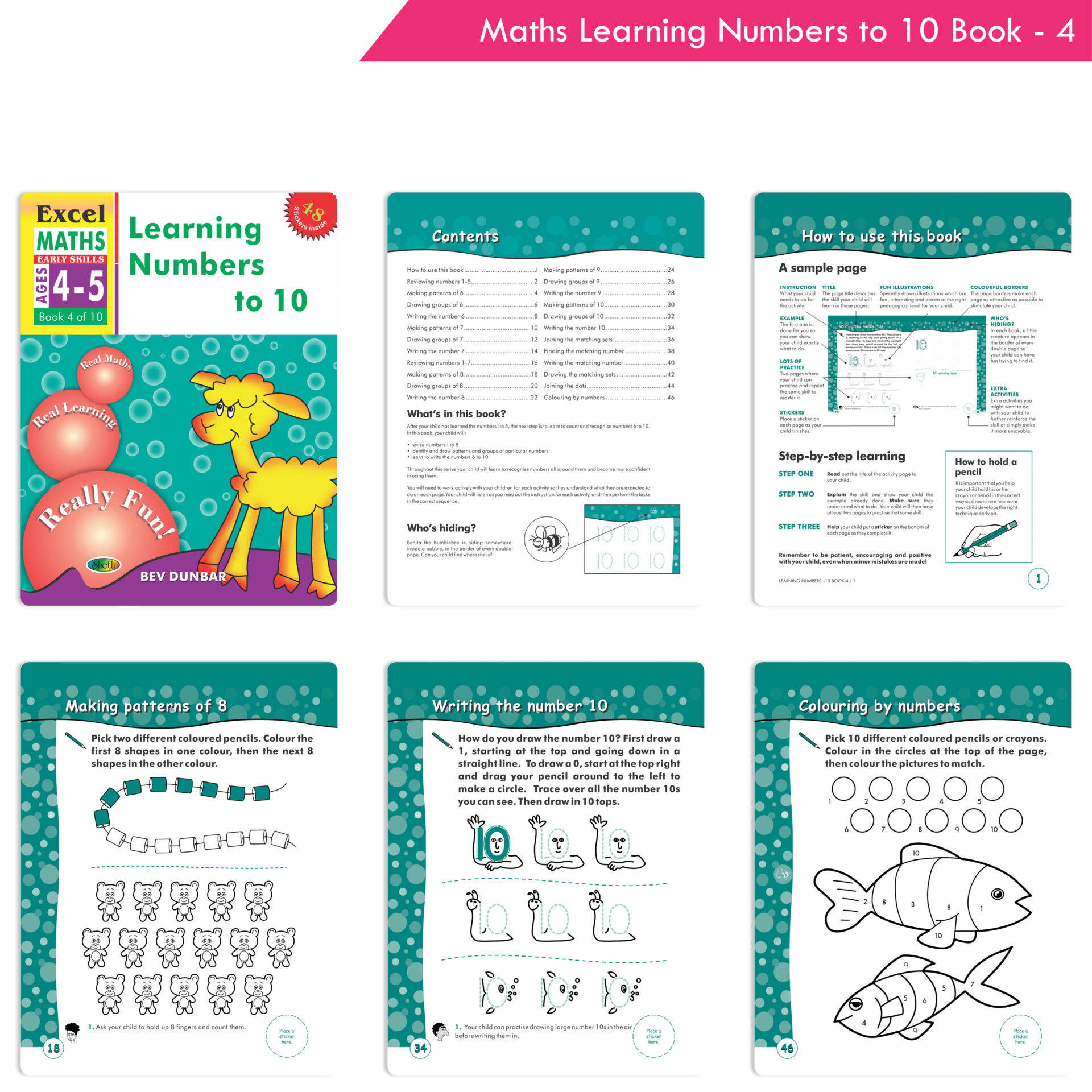 Excel English and Maths Early Skills Ages 3 6 Years Set of 19 5