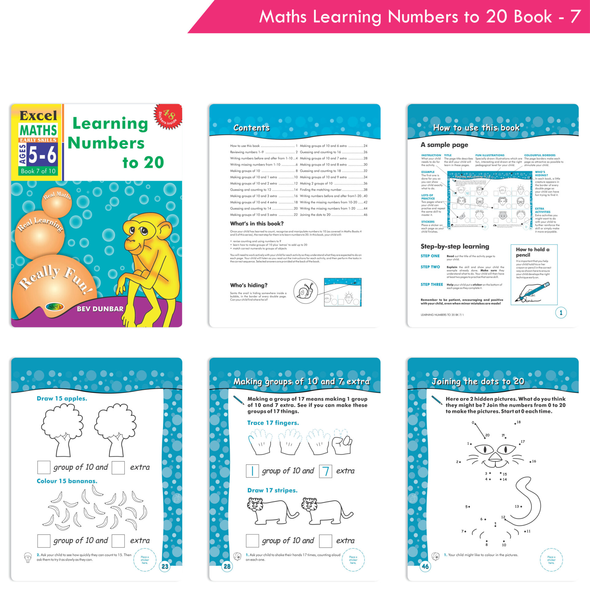 Excel English and Maths Early Skills Ages 3 6 Years Set of 19 6