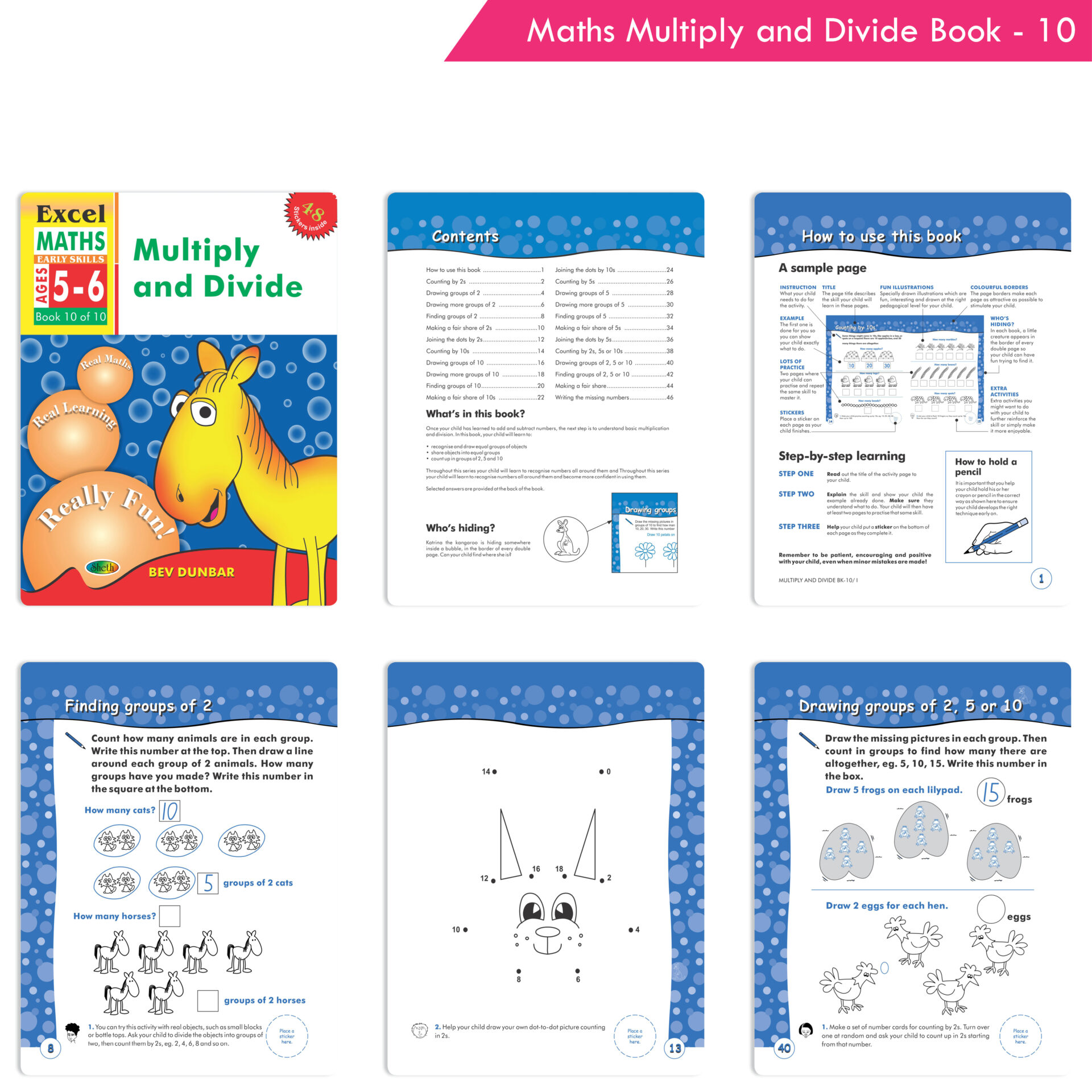 Excel English and Maths Early Skills Ages 3 6 Years Set of 19 7