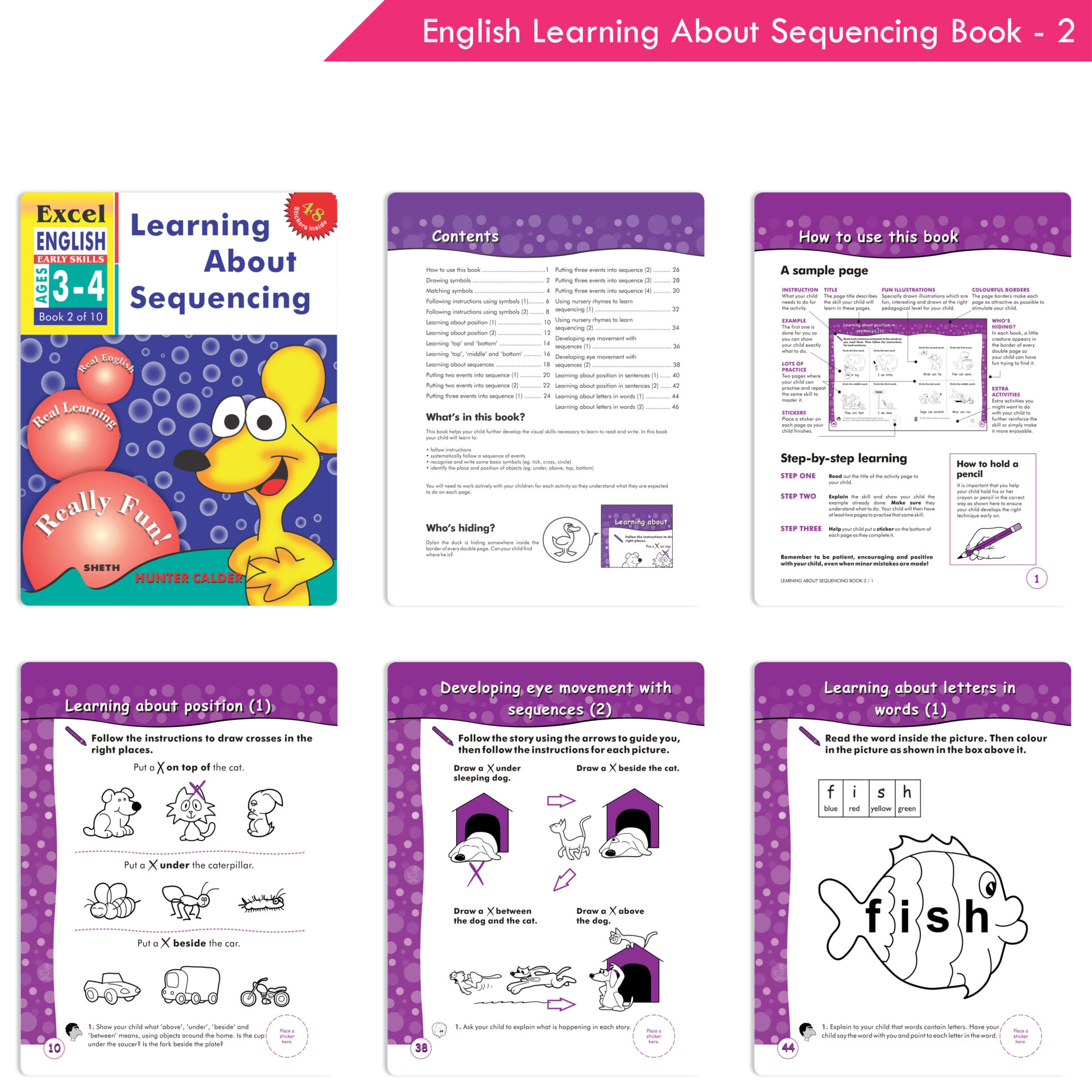 Excel English and Maths Early Skills Ages 3 6 Years Set of 19 8