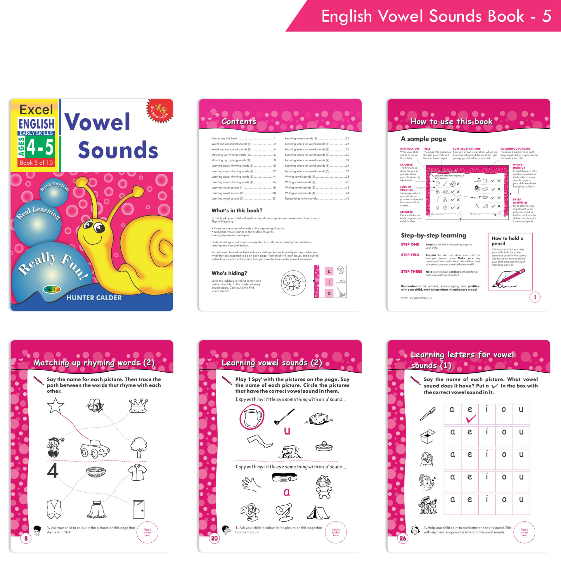 Excel English and Maths Early Skills Ages 3 6 Years Set of 19 9