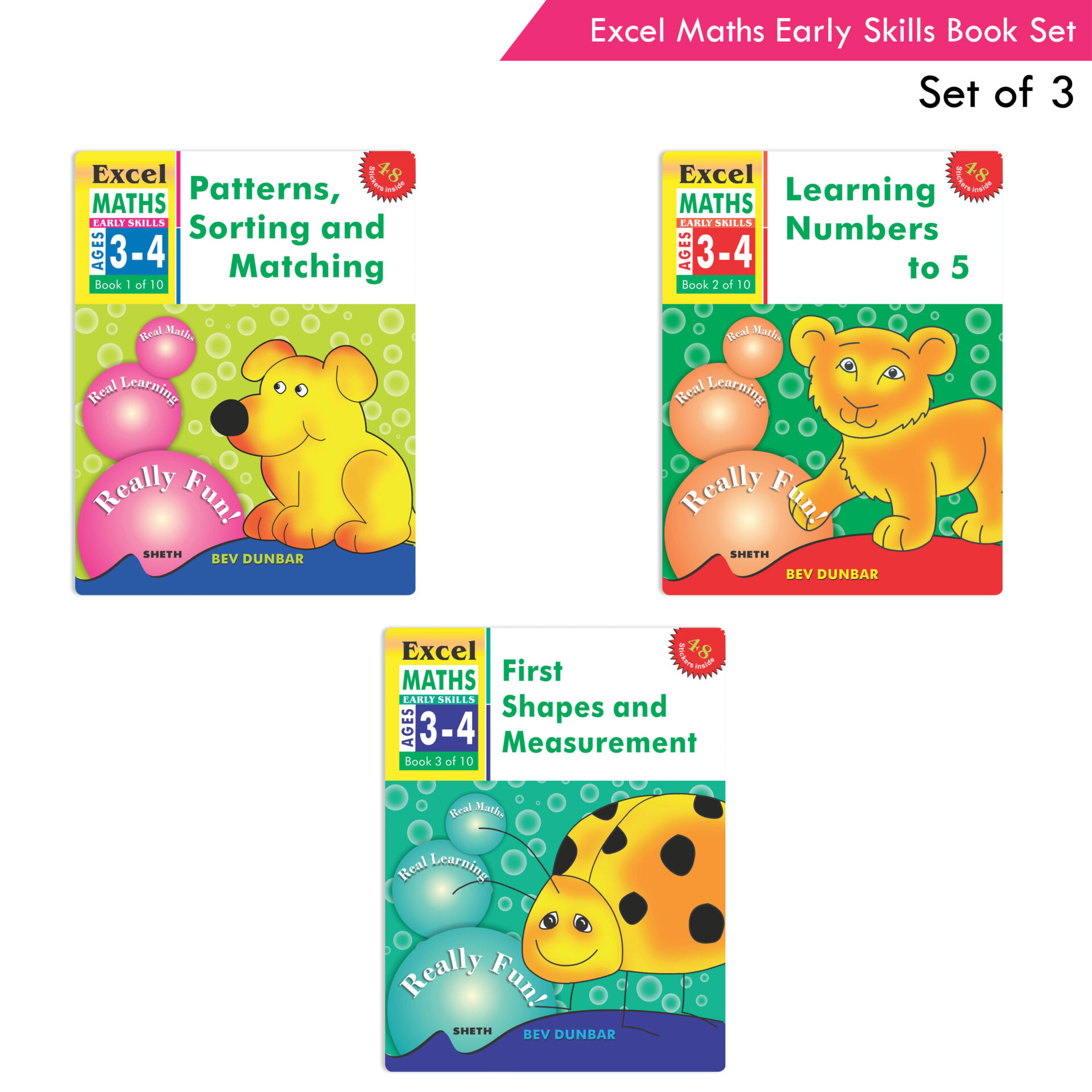 Excel Maths Early Skills Ages 3 4 Set of 3 1