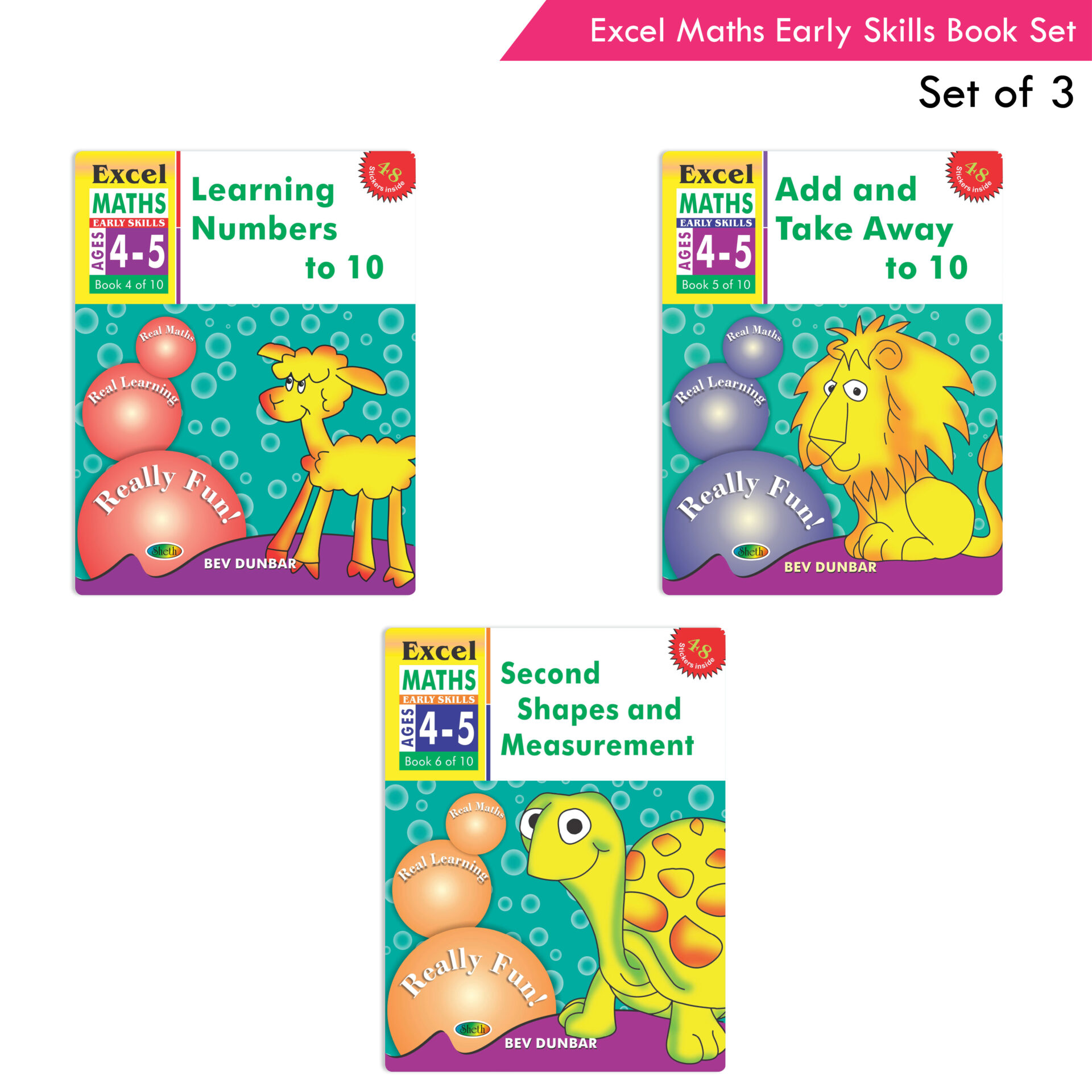 Excel Maths Early Skills Ages 4 5 Set of 3 1