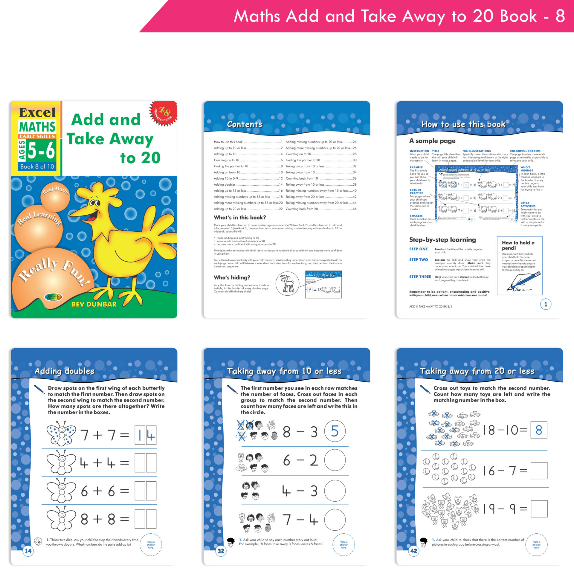 Excel Maths Early Skills Ages 5 6 Set of 4 3