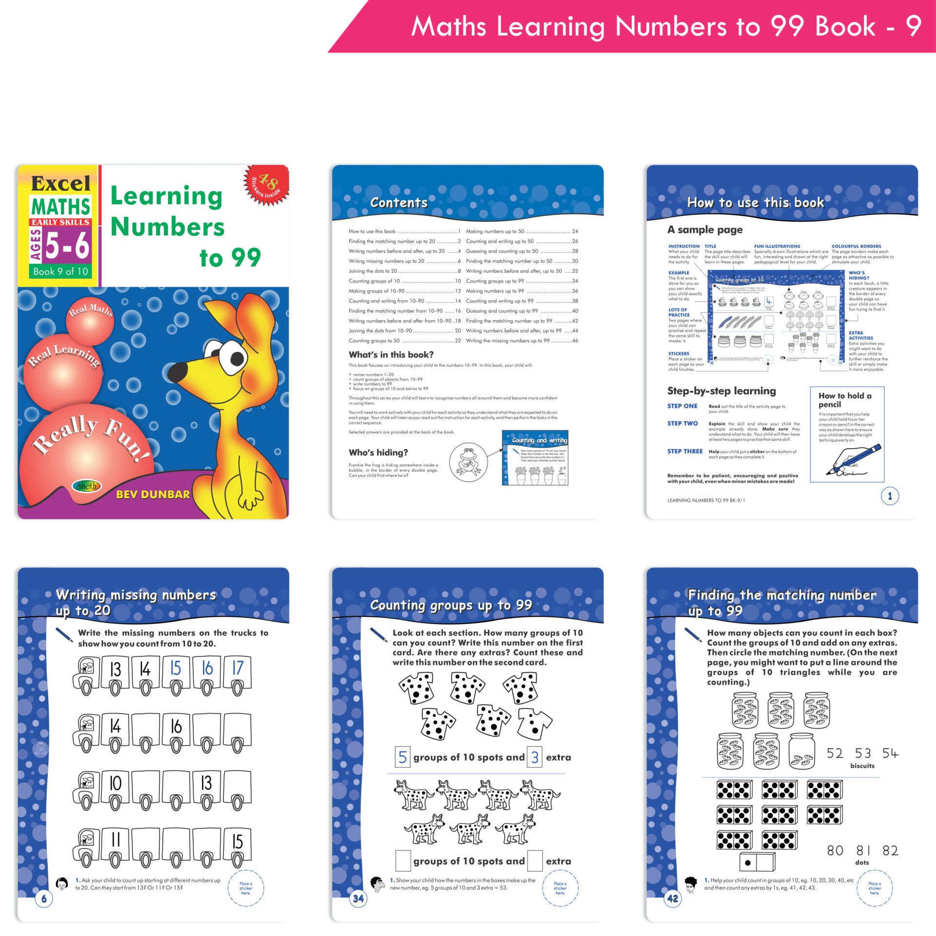 Excel Maths Early Skills Ages 5 6 Set of 4 4