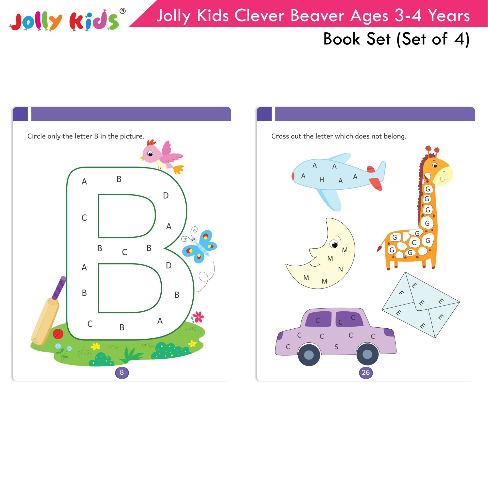 Jolly Kids Clever Beaver Ages 3 4 Years Book Set Set of 4 3