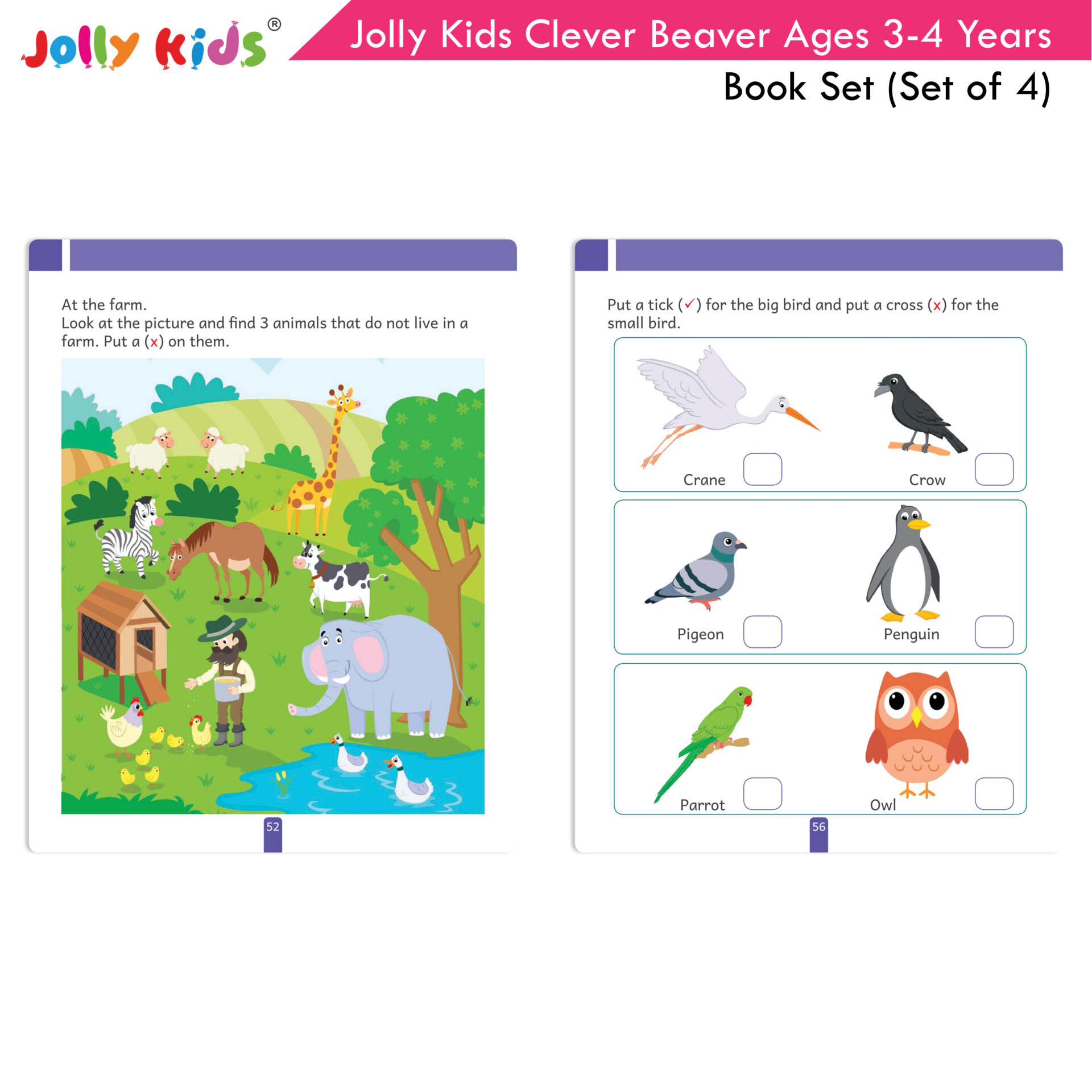 Jolly Kids Clever Beaver Ages 3 4 Years Book Set Set of 4 7