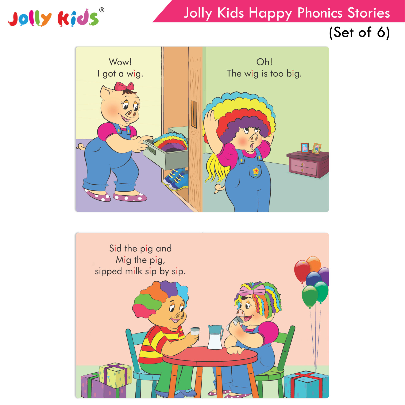 Jolly Kids Happy Phonics Stories Set of 6 5