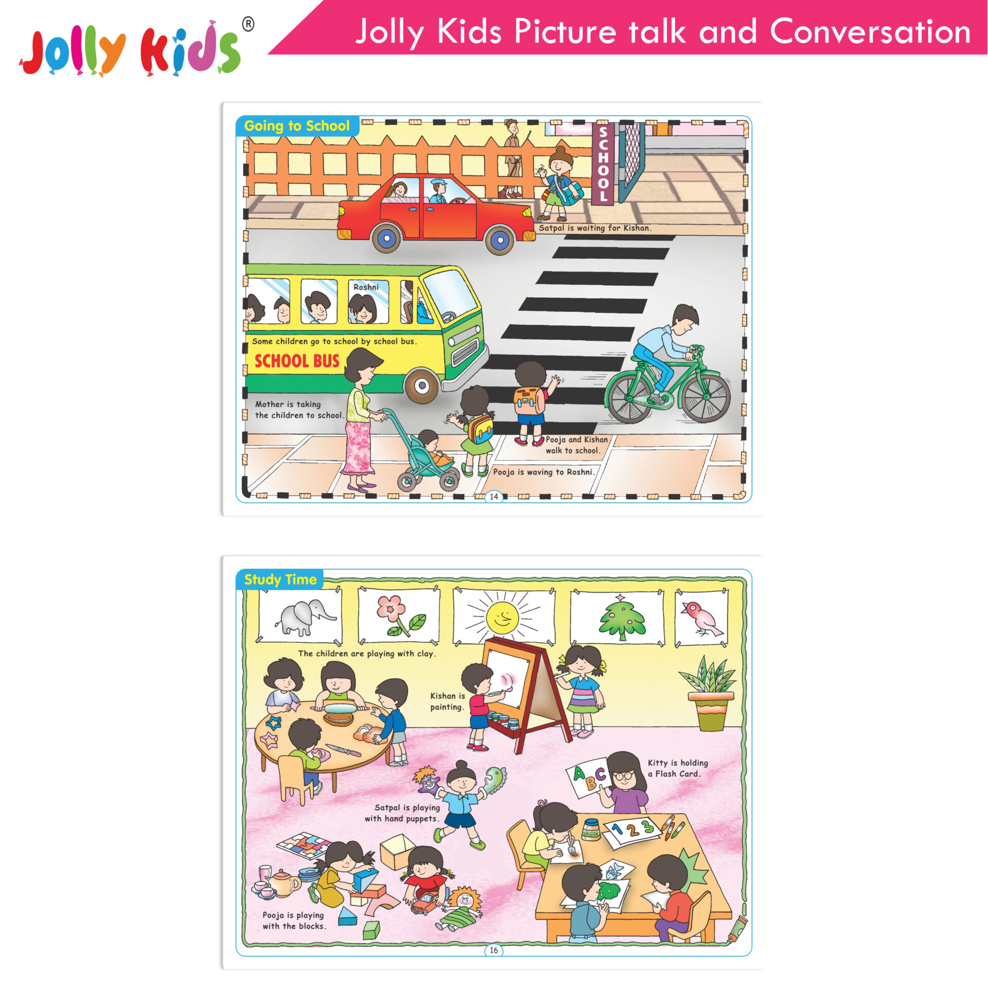 Jolly Kids Picture talk and conversation  4