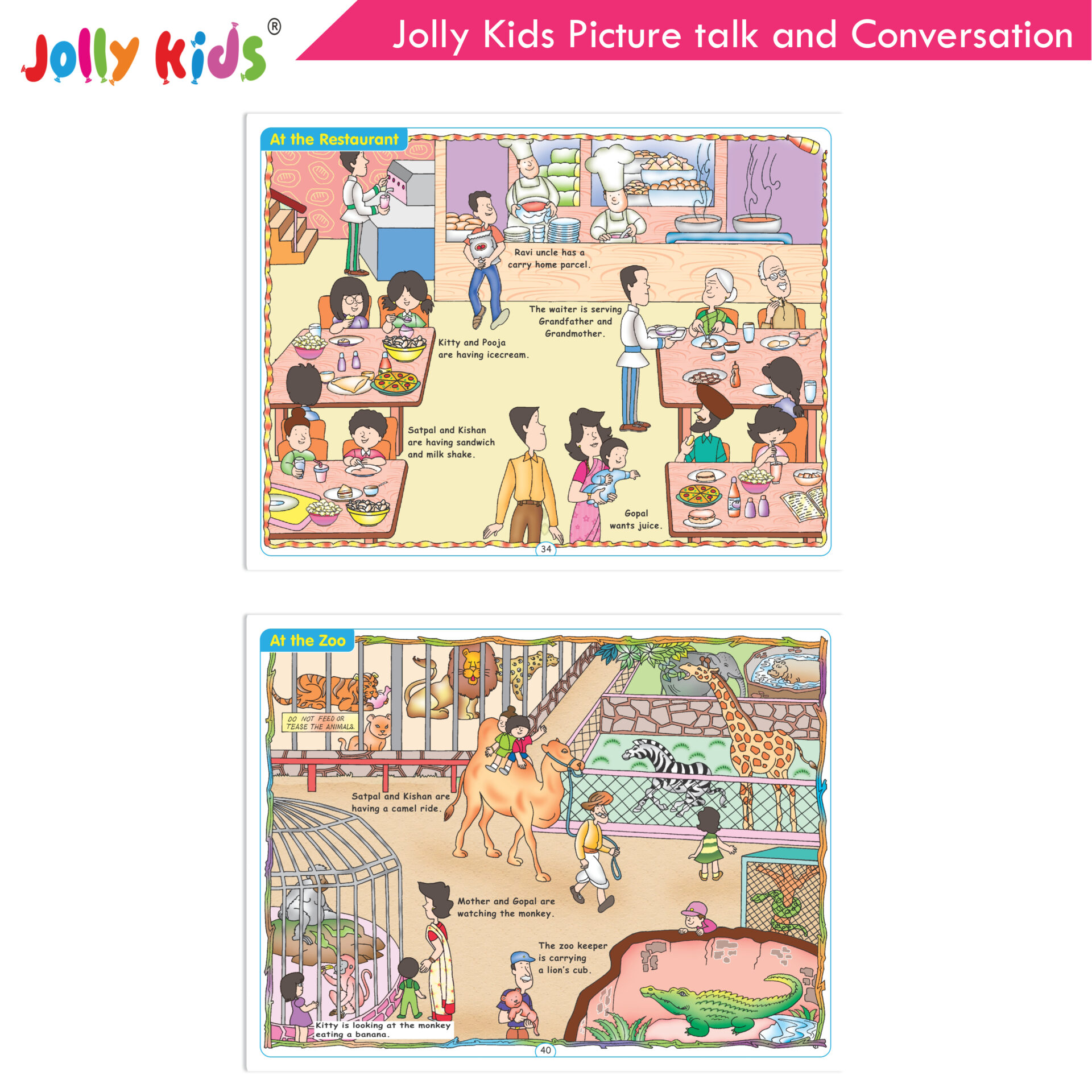 Jolly Kids Picture talk and conversation  6