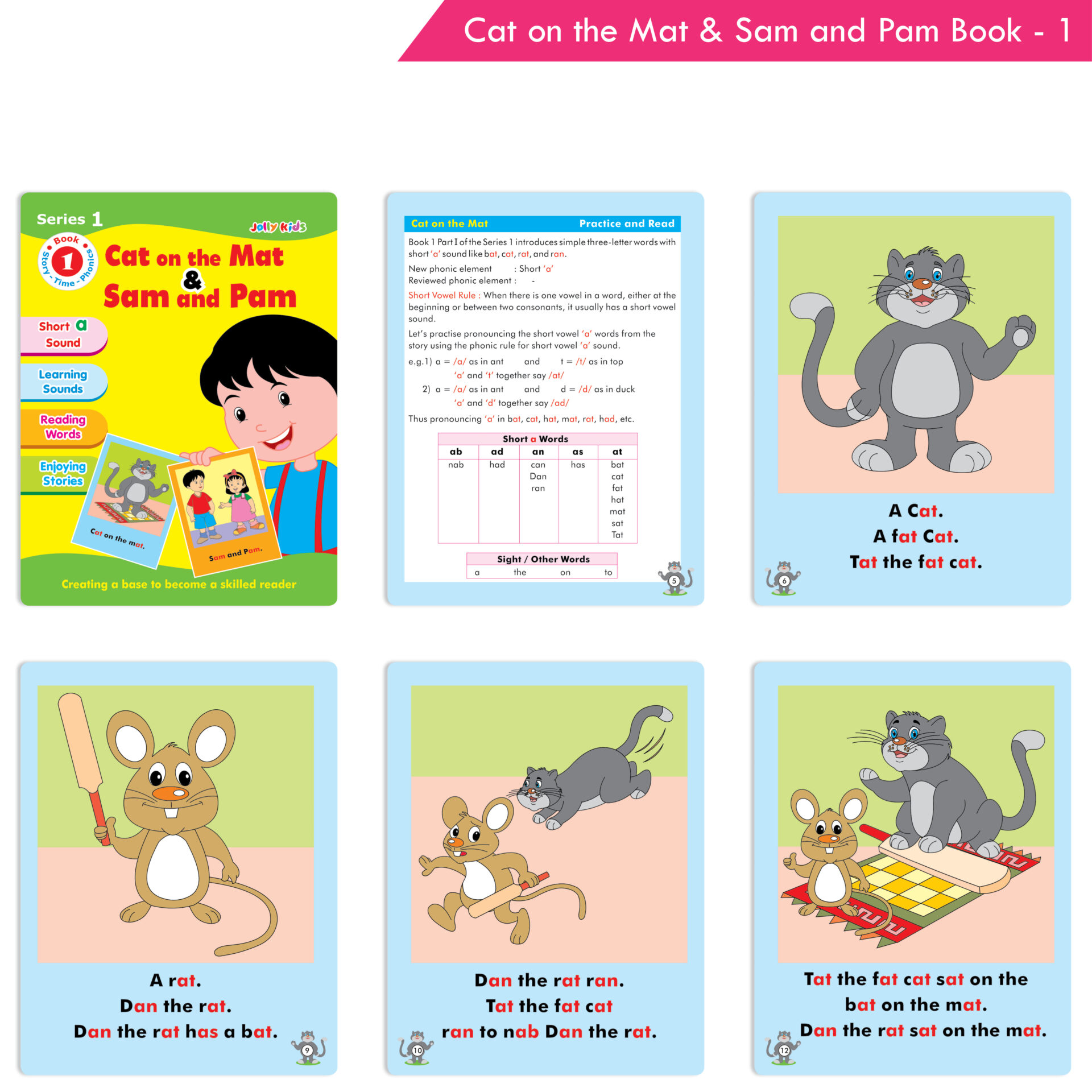 Jolly Kids Story Time Phonics Book Series 1 Set of 10 2