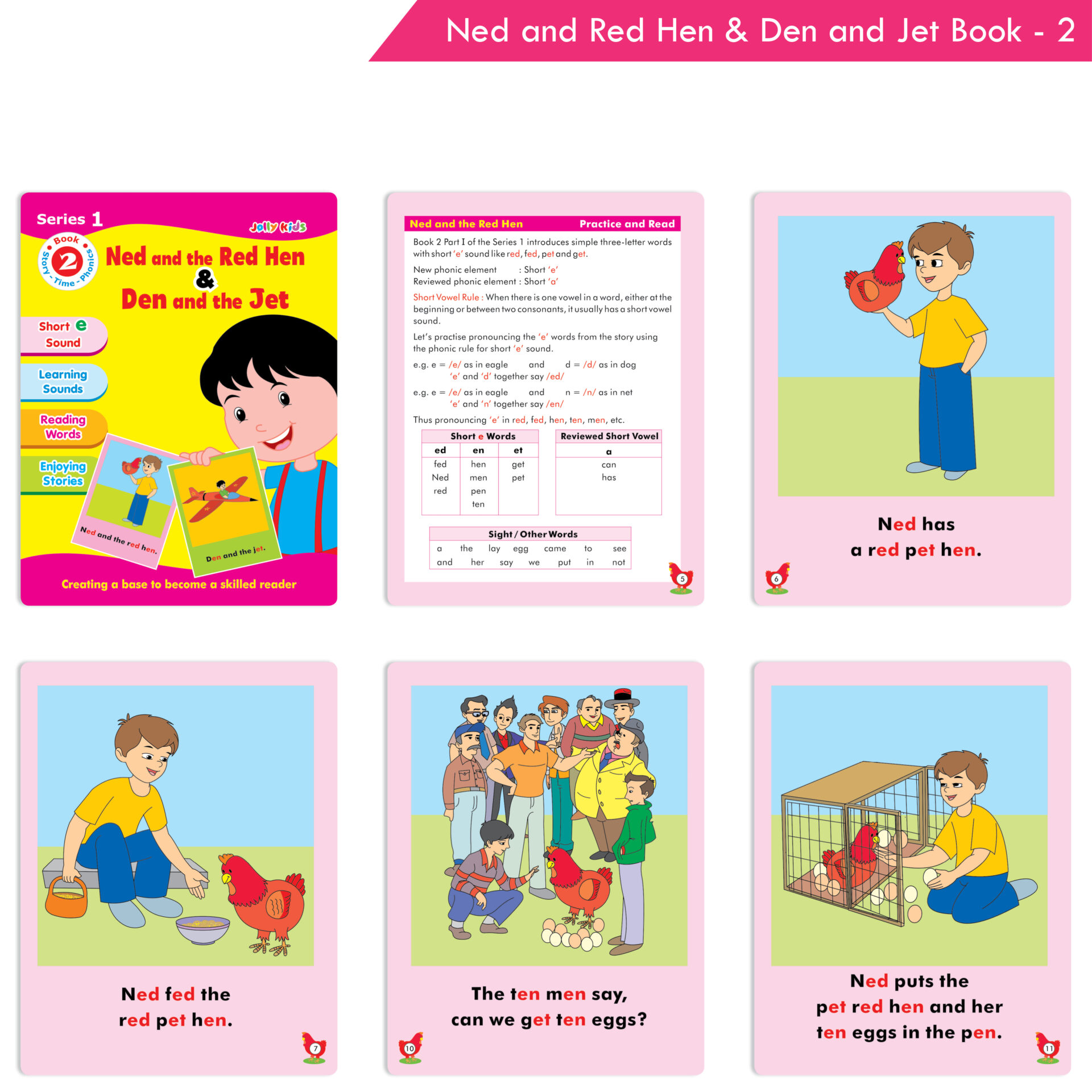 Jolly Kids Story Time Phonics Book Series 1 Set of 10 3