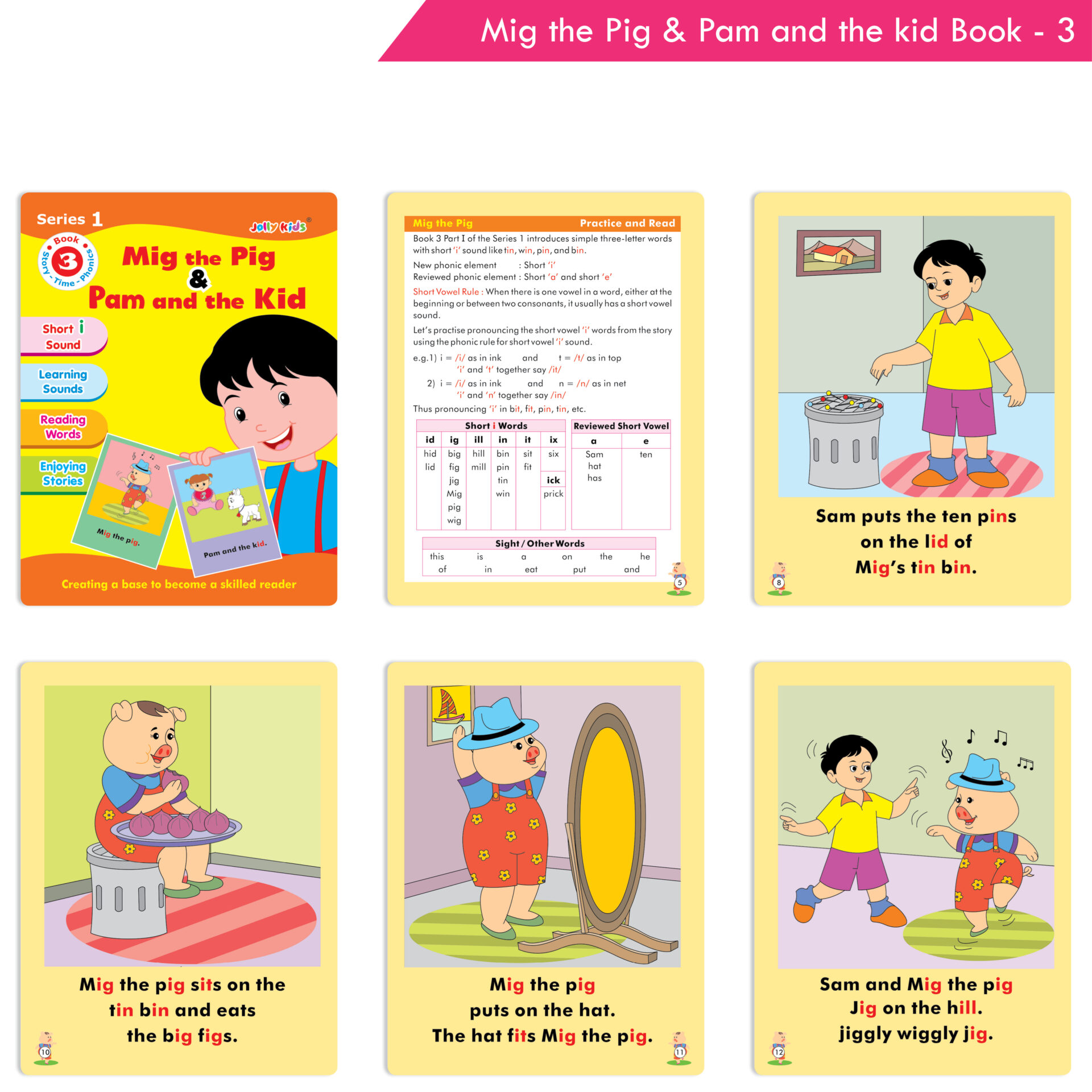 Jolly Kids Story Time Phonics Book Series 1 Set of 10 4