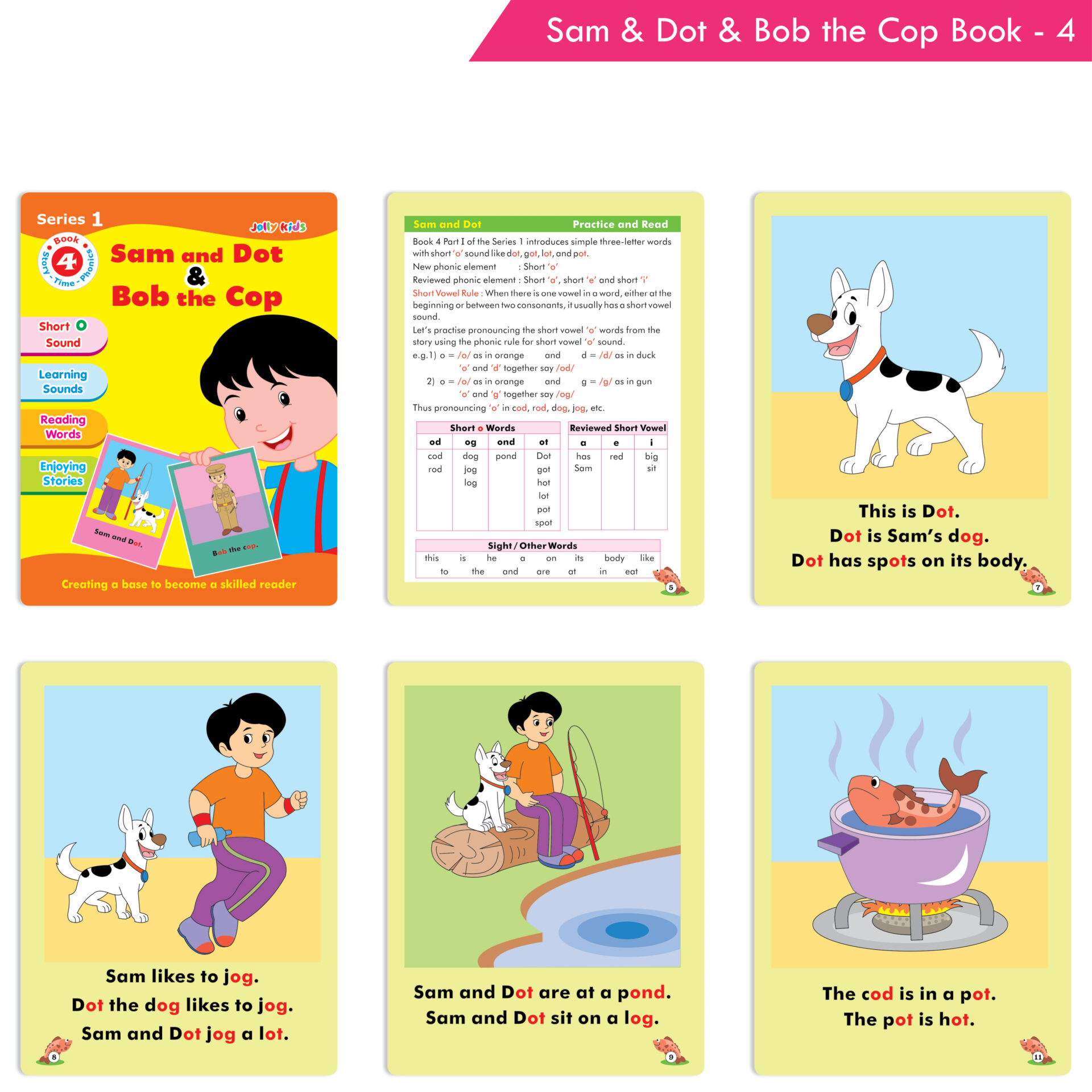 Jolly Kids Story Time Phonics Book Series 1 Set of 10 5