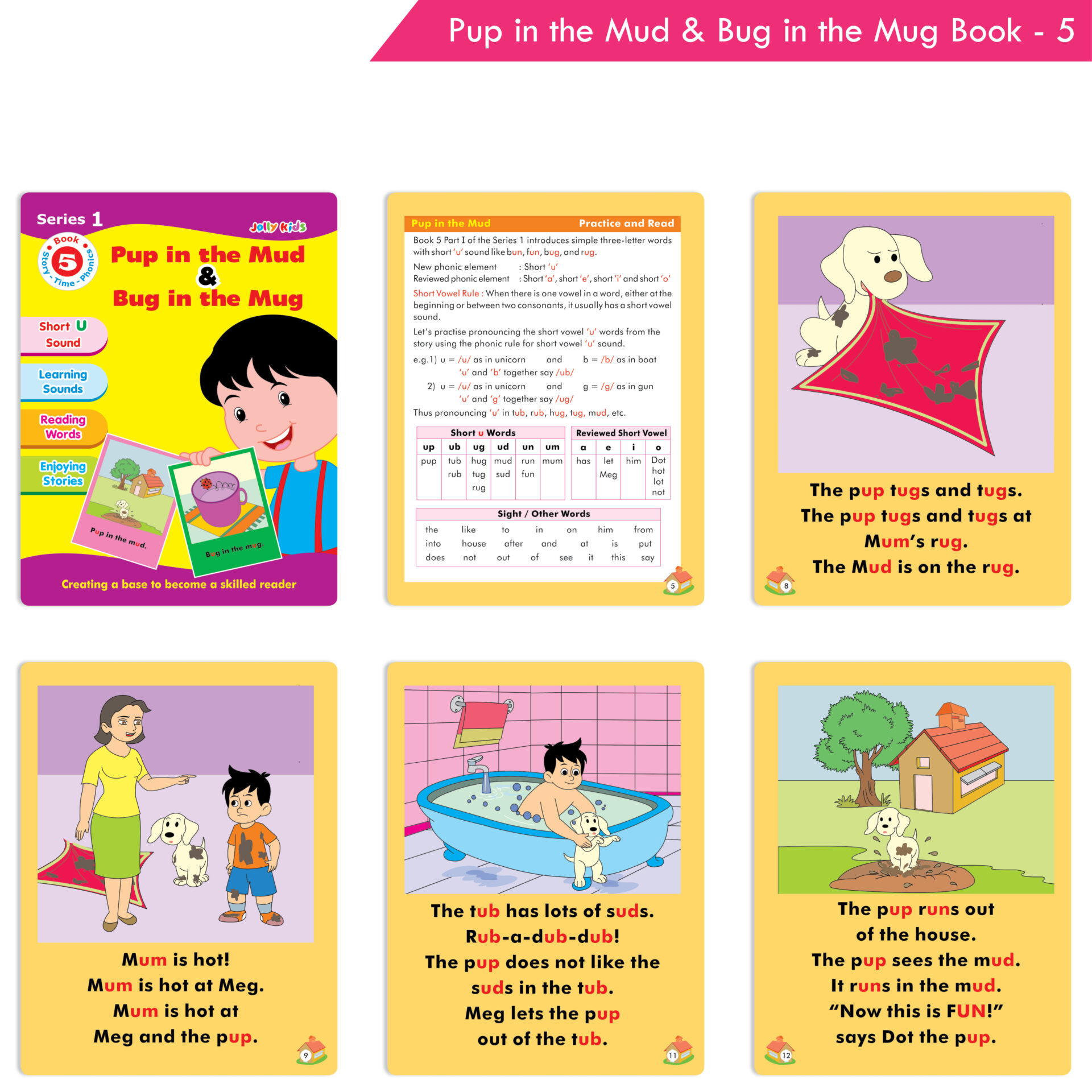 Jolly Kids Story Time Phonics Book Series 1 Set of 10 6