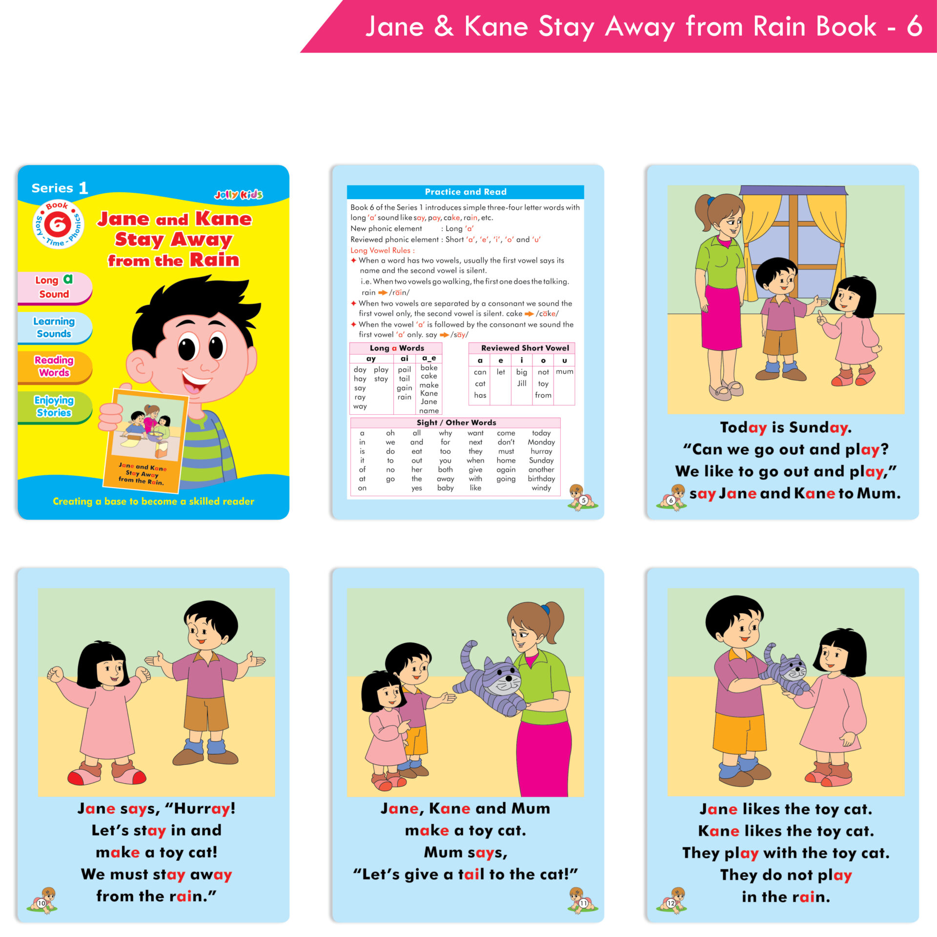 Jolly Kids Story Time Phonics Book Series 1 Set of 10 7