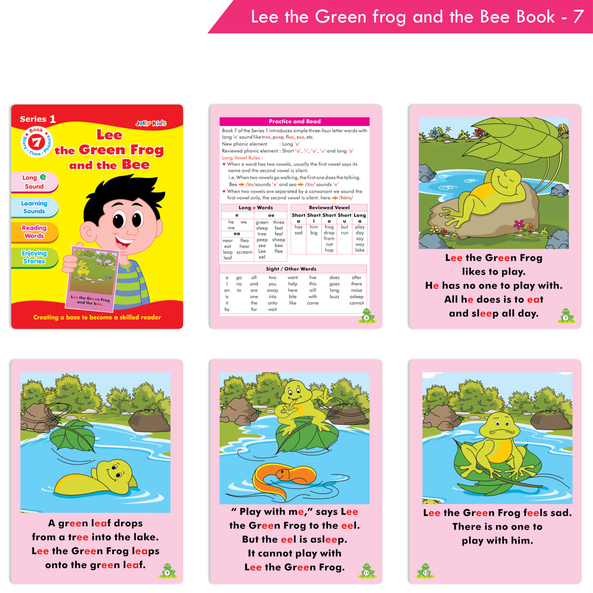 Jolly Kids Story Time Phonics Book Series 1 Set of 10 8