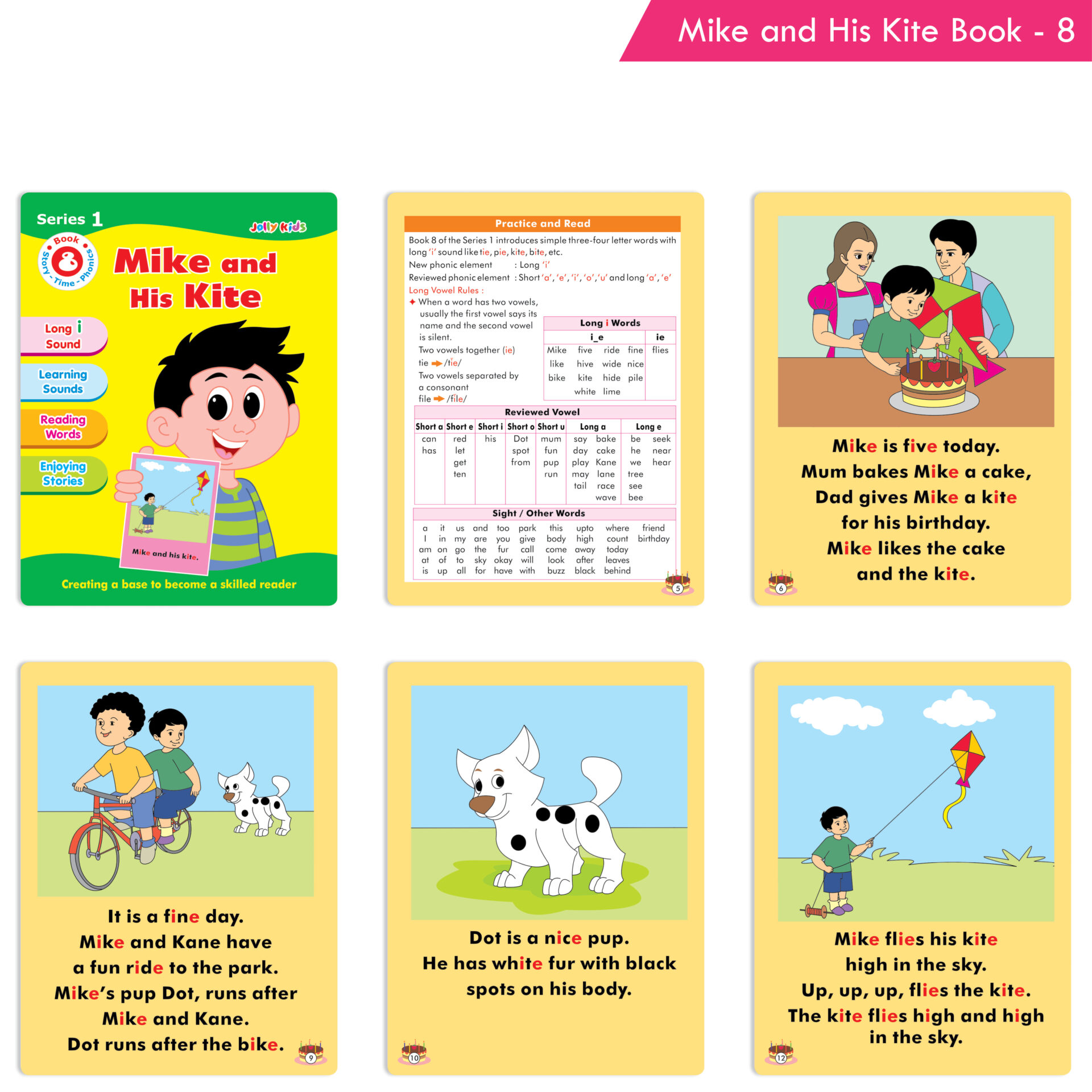 Jolly Kids Story Time Phonics Book Series 1 Set of 10 9