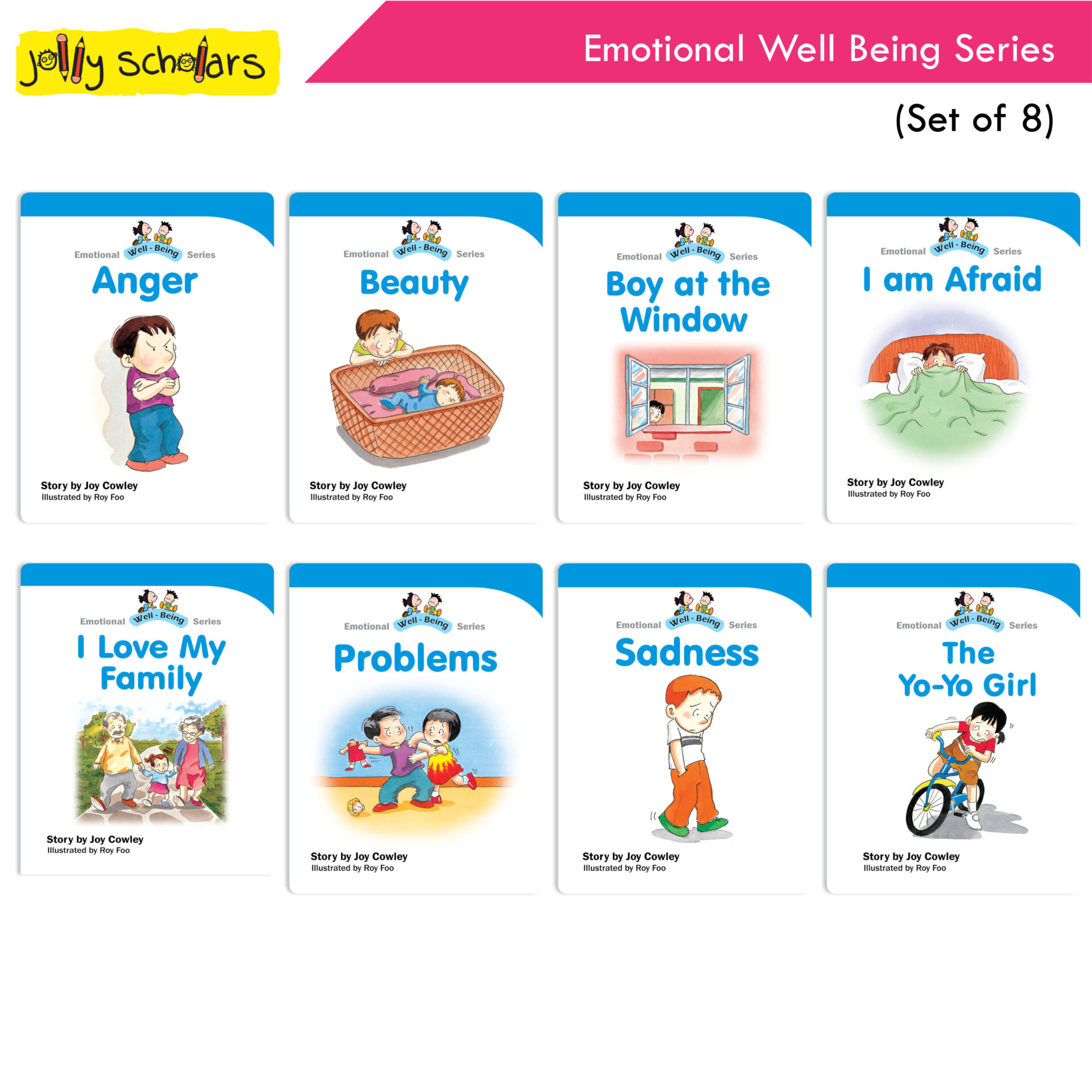 Jolly Scholars Emotional Well Being Series Set of 8 1