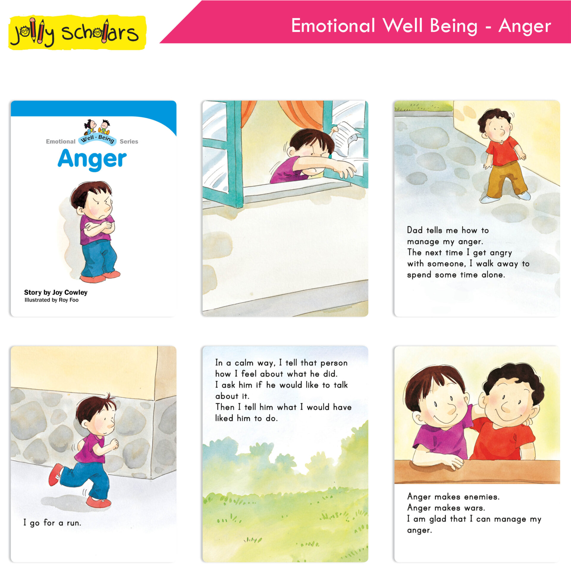 Jolly Scholars Emotional Well Being Series Set of 8 2
