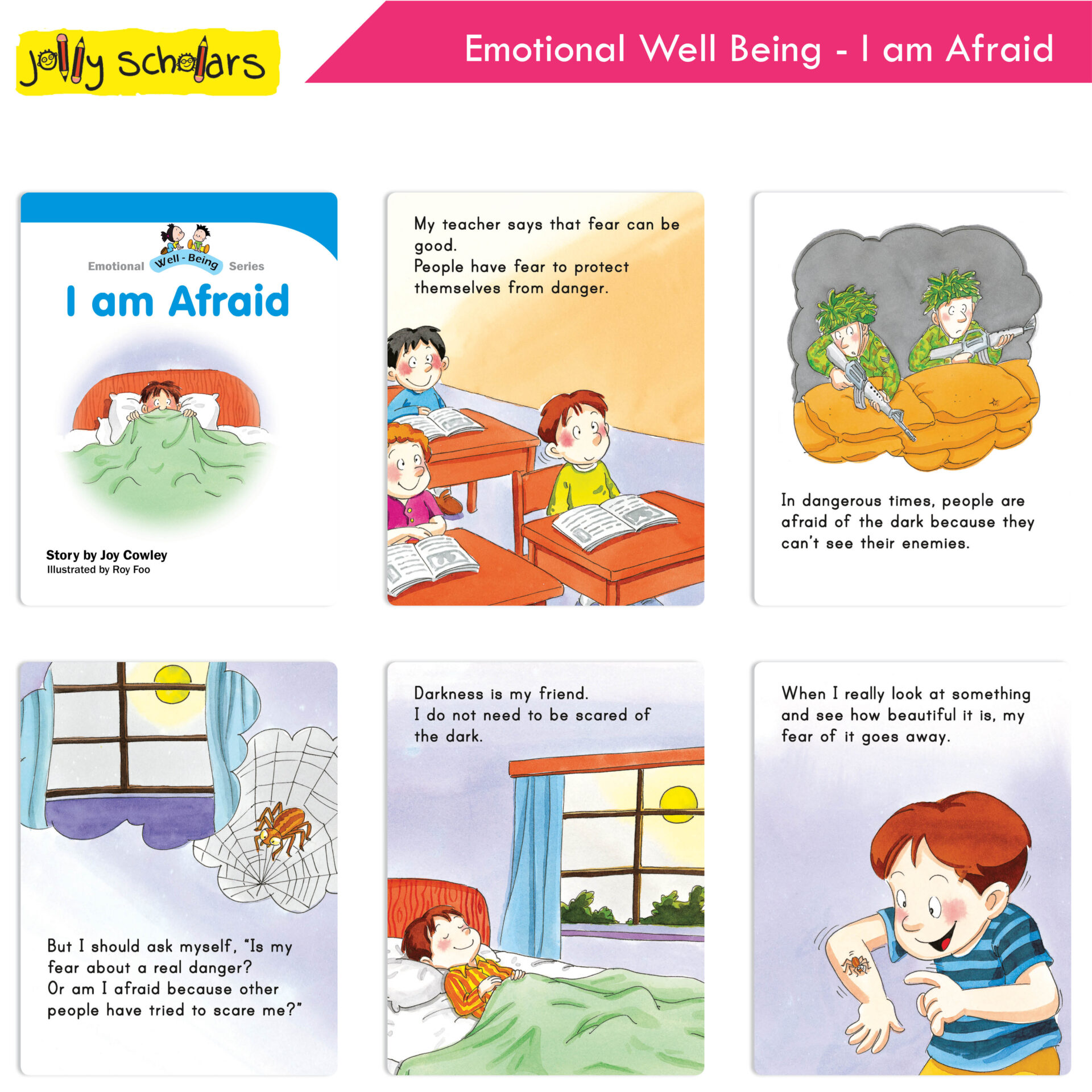 Jolly Scholars Emotional Well Being Series Set of 8 5