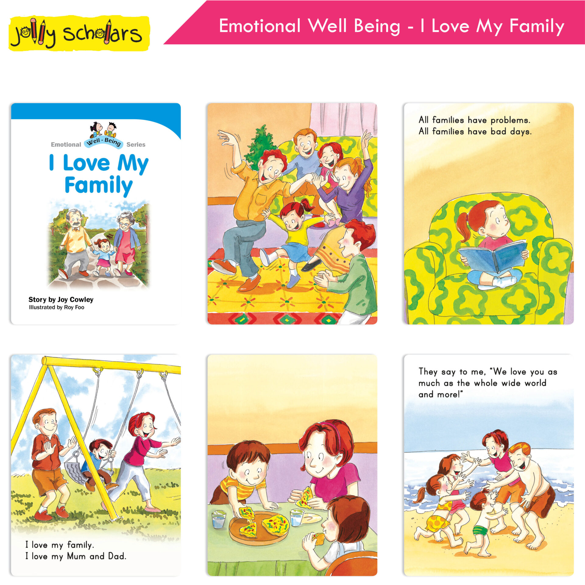 Jolly Scholars Emotional Well Being Series Set of 8 6