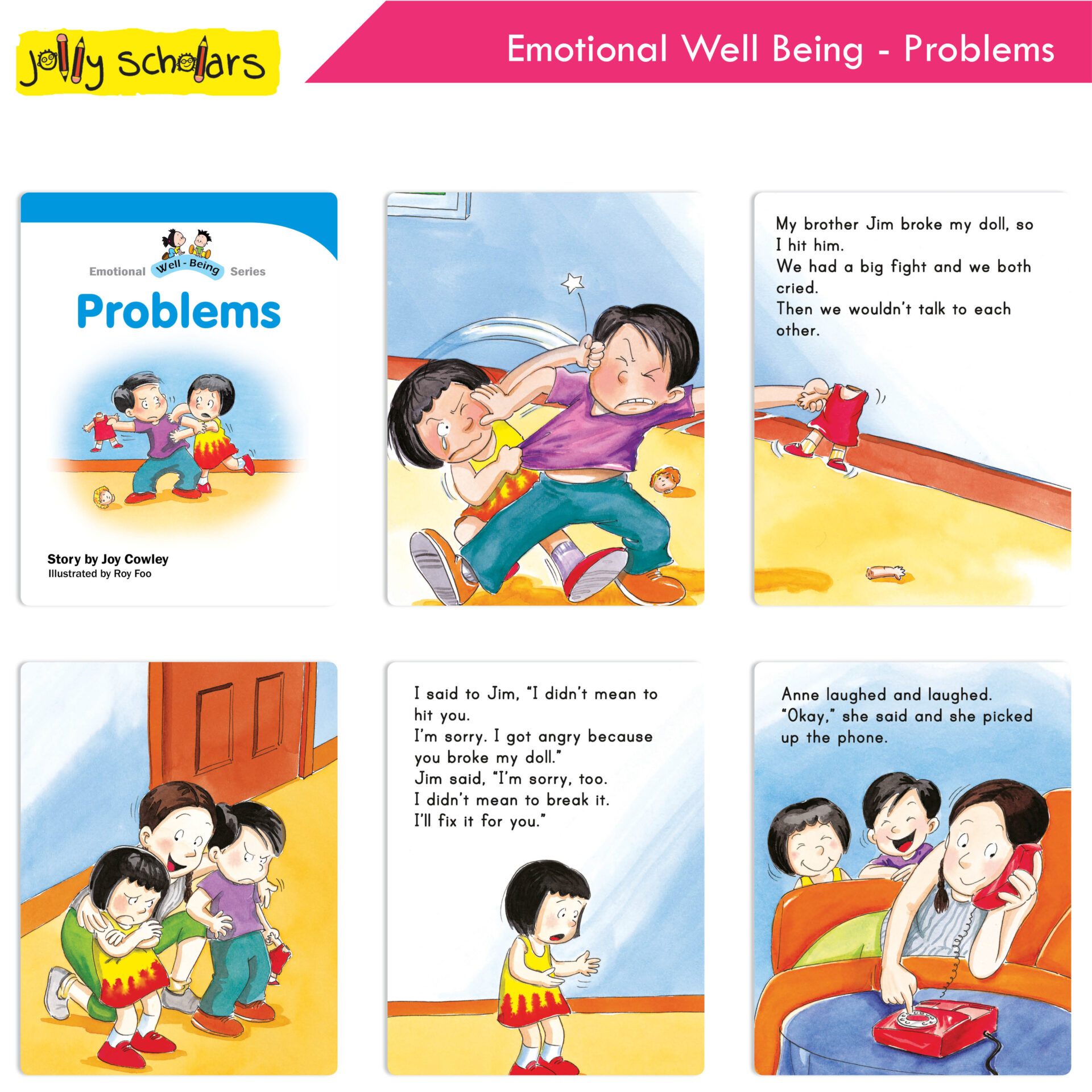 Jolly Scholars Emotional Well Being Series Set of 8 7