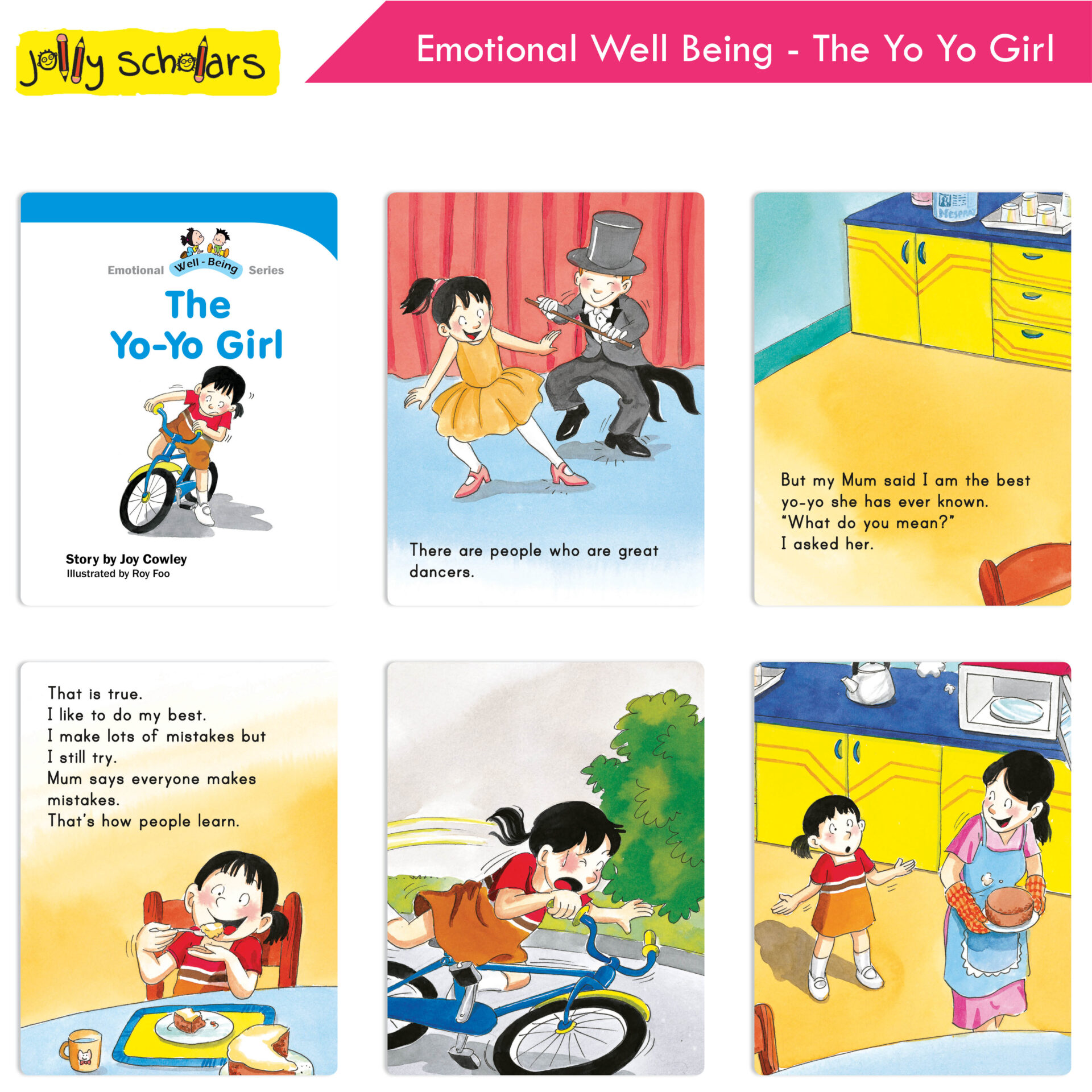 Jolly Scholars Emotional Well Being Series Set of 8 9