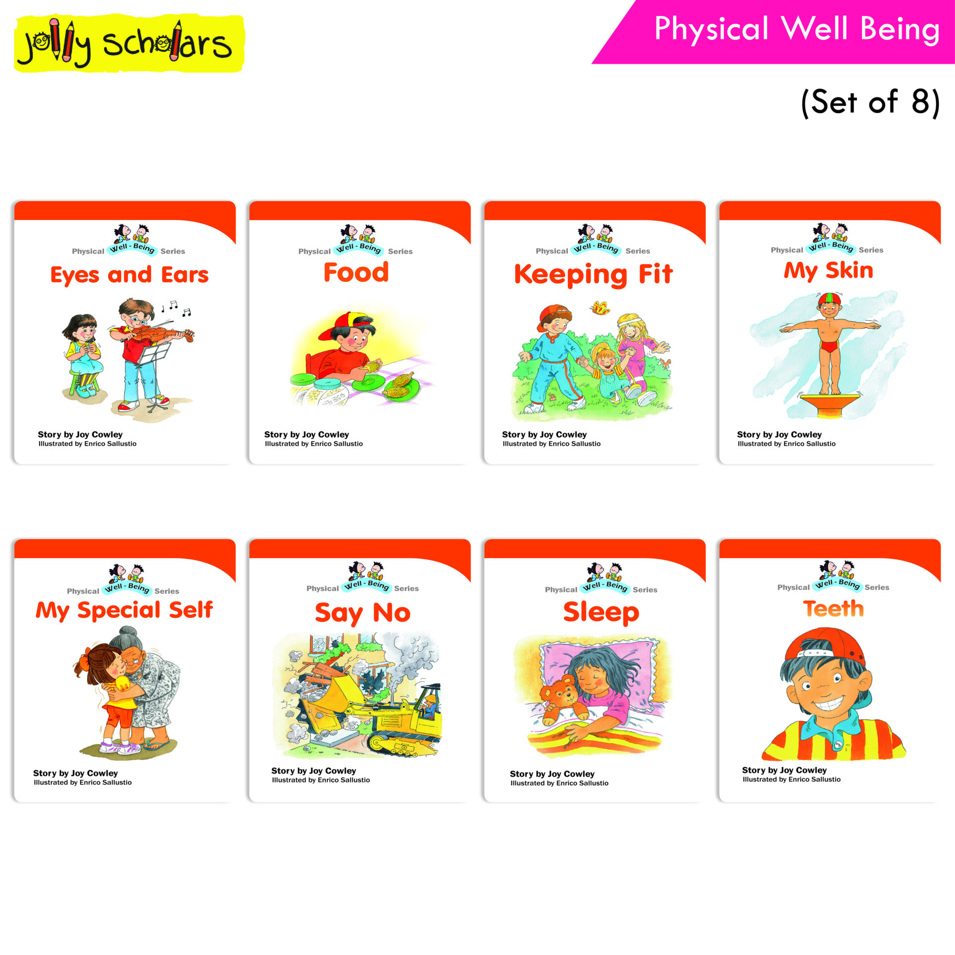 Jolly Scholars Physical Well Being Set of 8 1