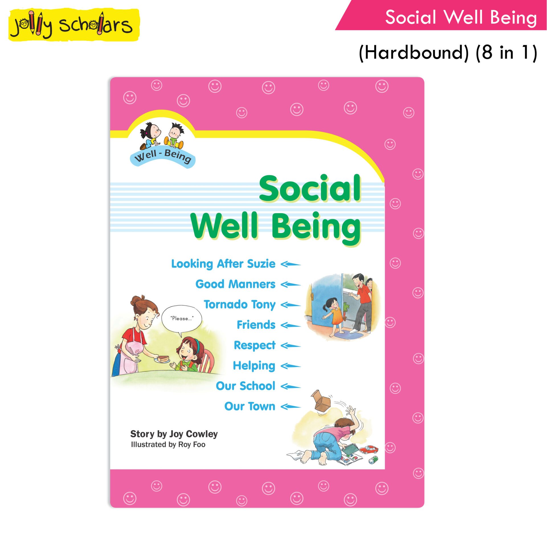 Jolly Scholars Social Well Being Hard Bound 8 in 1 1