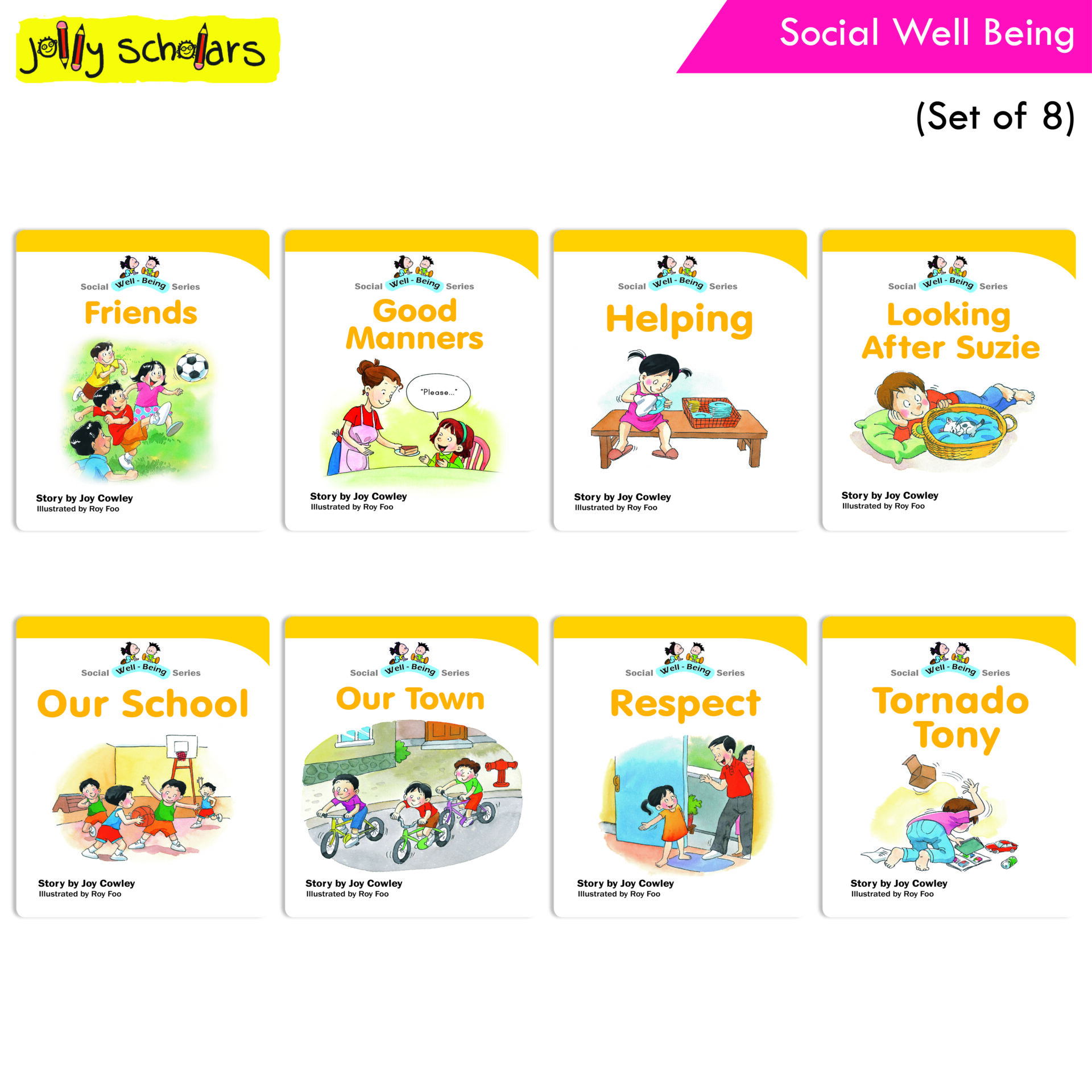 Jolly Scholars Social Well Being Set of 8 1