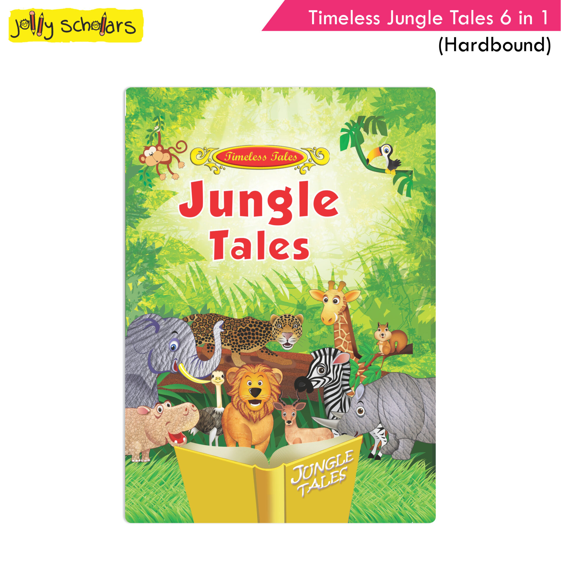 Jolly Scholars Timeless Jungle Tales 6 in 1 Hard Bound 1
