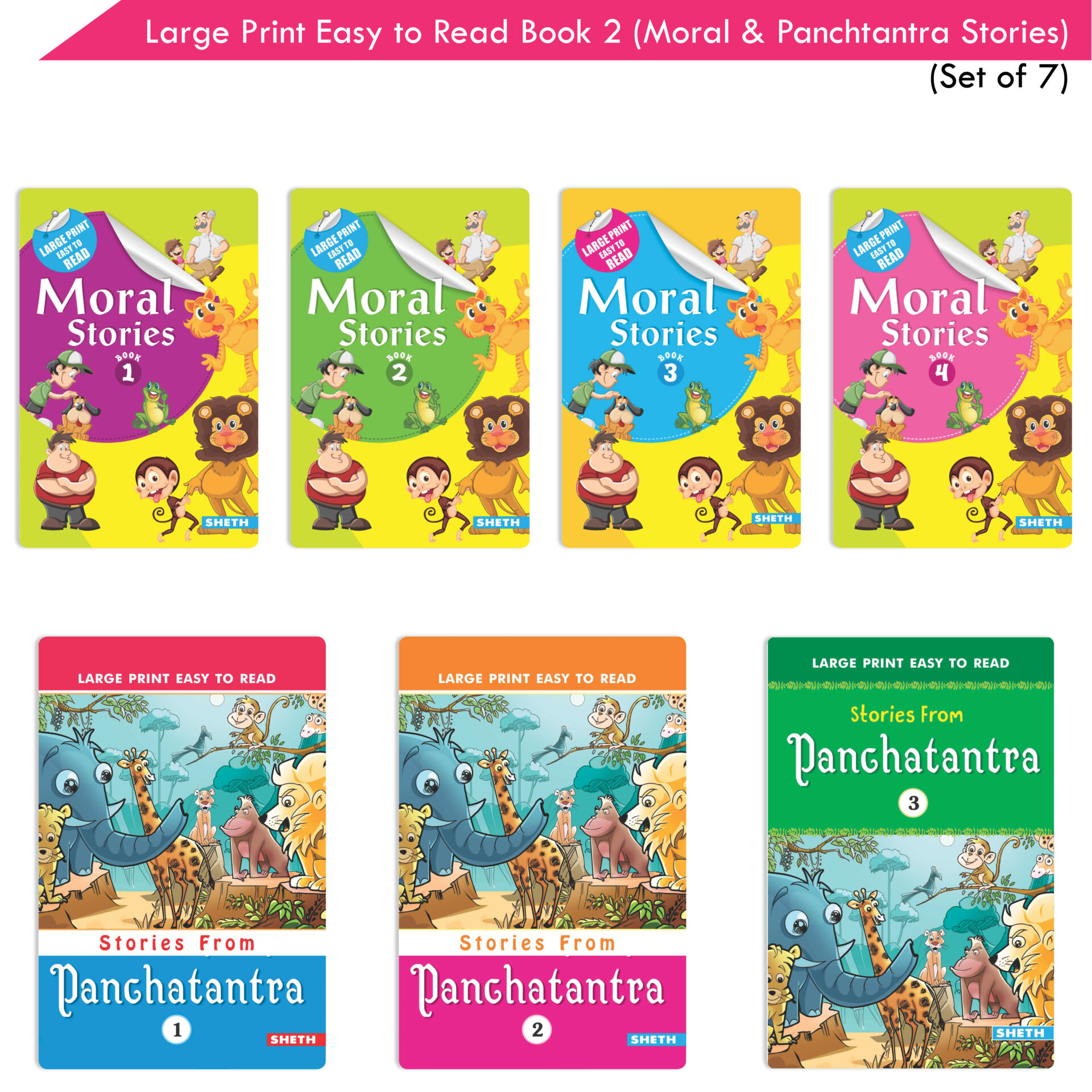 Large Print Easy to Read Book 2 Set of 7 1