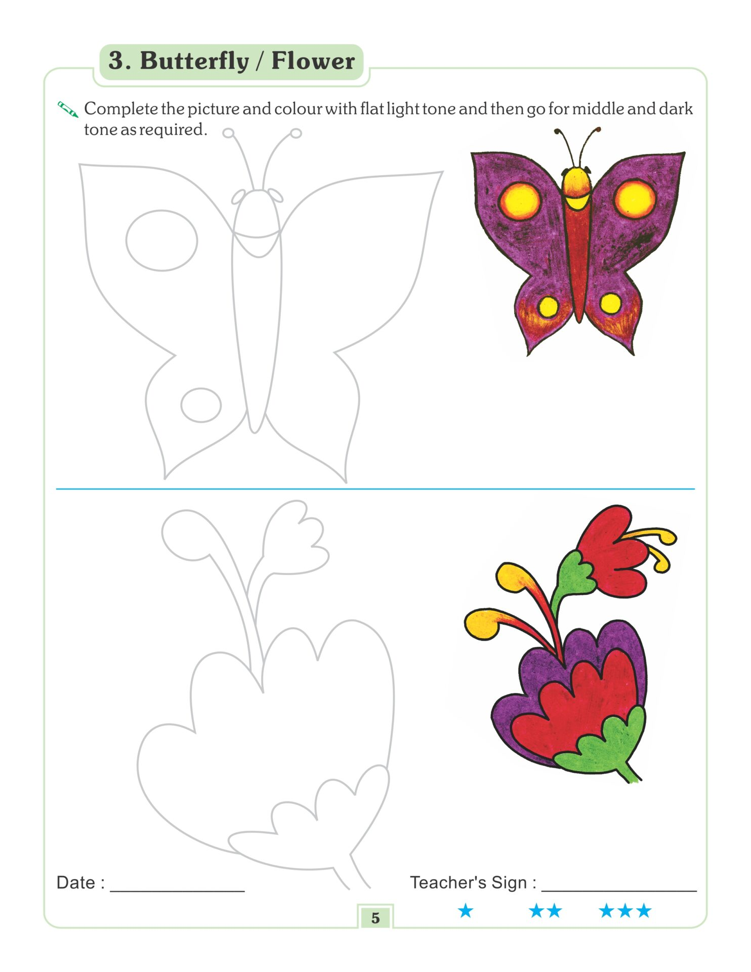 Nigam Drawing and Colouring Book 3 4