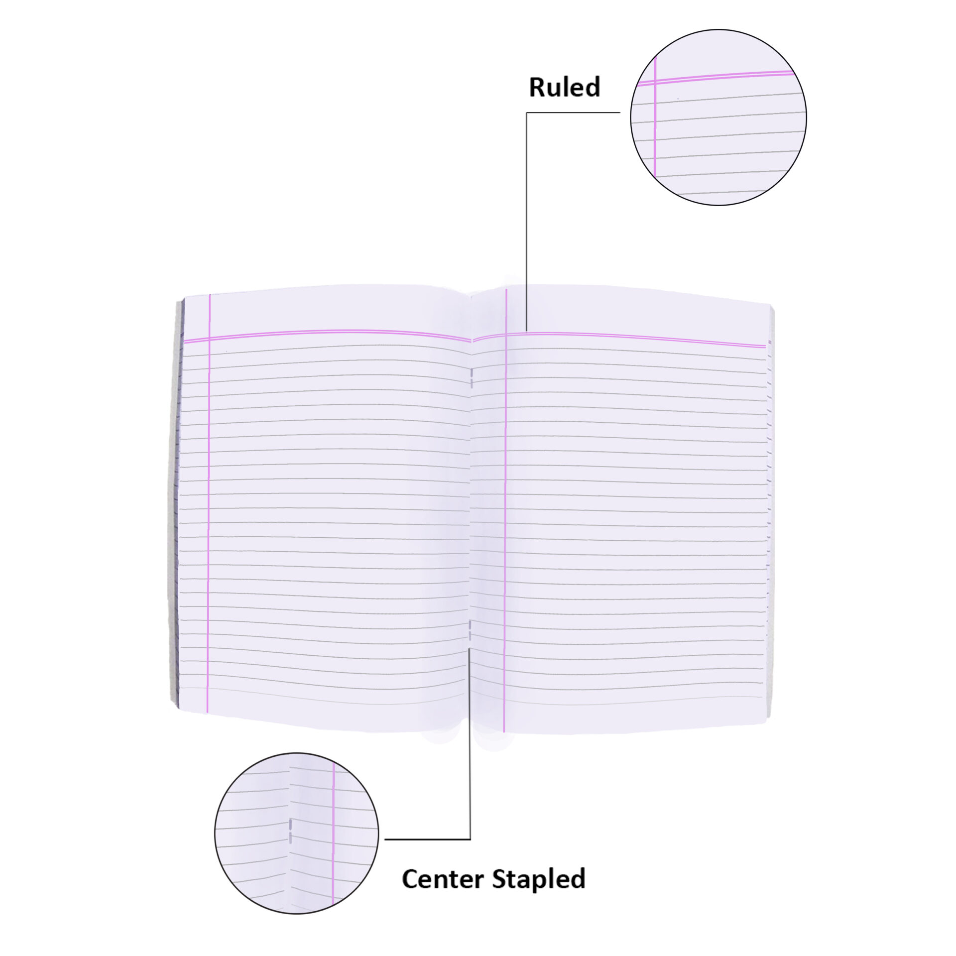 Nigam Single Line A5 Note Book 172 Pages Soft Bound Set of 12 3