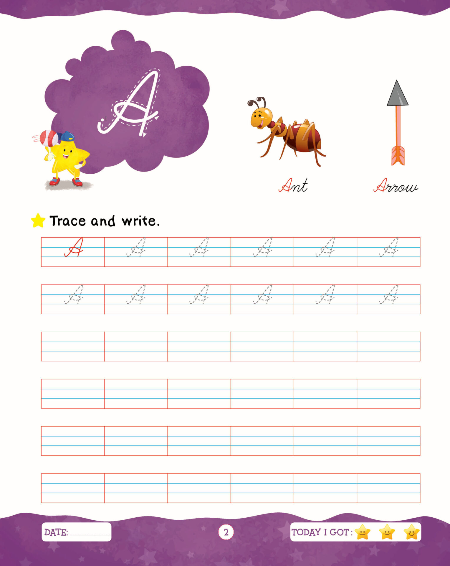 Rising Star Cursive Writing Capital and Small Letters C 2