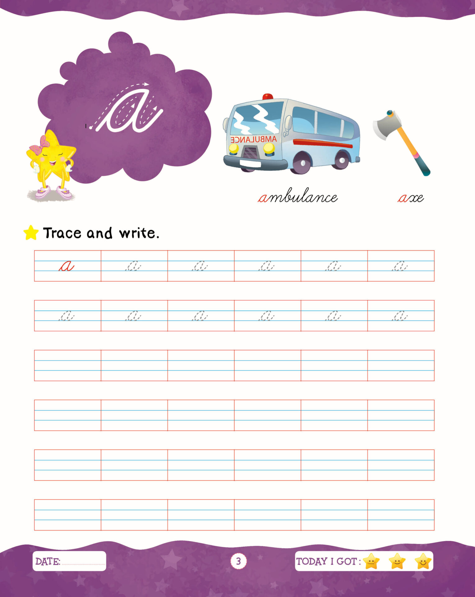 Rising Star Cursive Writing Capital and Small Letters C 3