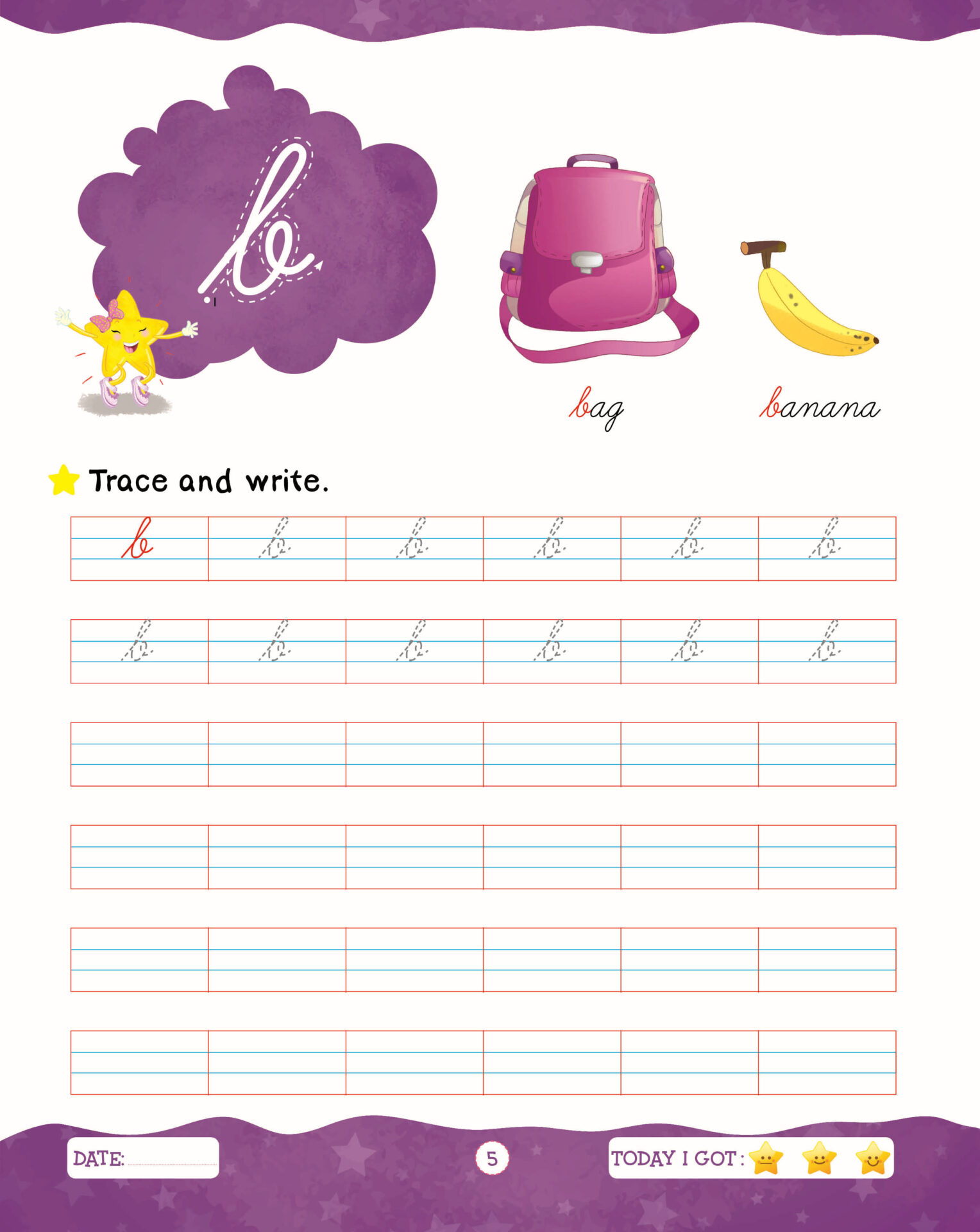 Rising Star Cursive Writing Capital and Small Letters C 5