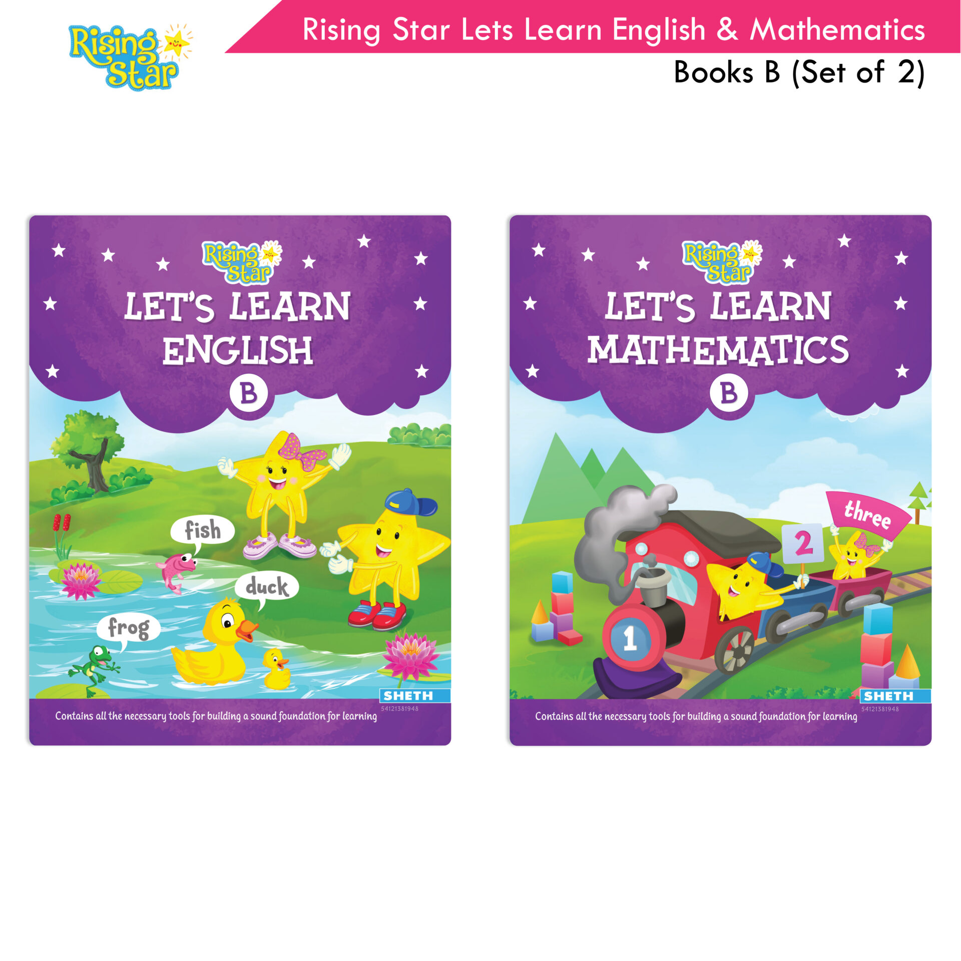 Rising Star Lets Learn English and Mathematics Books B Set of 2 1