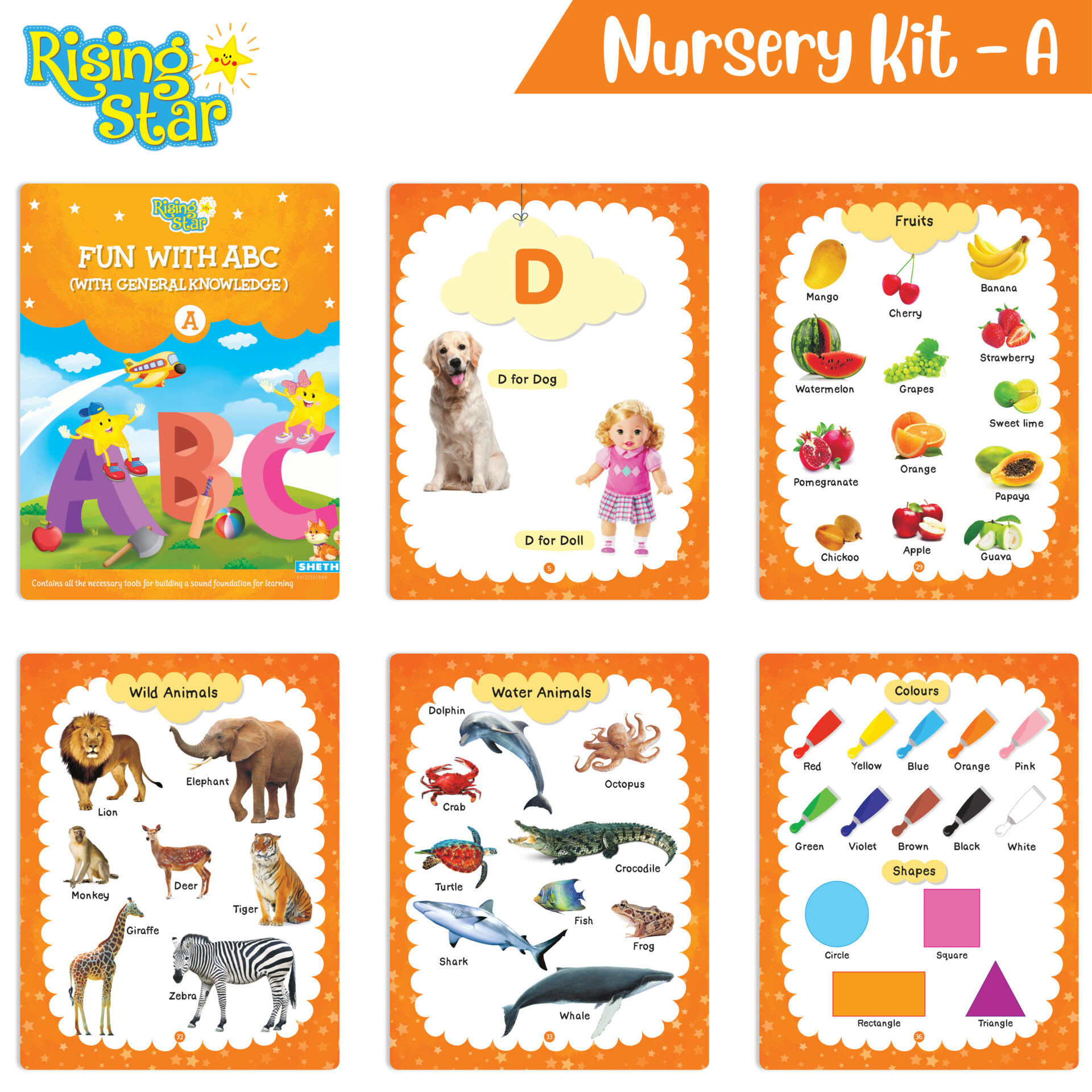 Rising Star Preschool Nurery Kit A 03 Fun with ABC With General Knowledge A 01