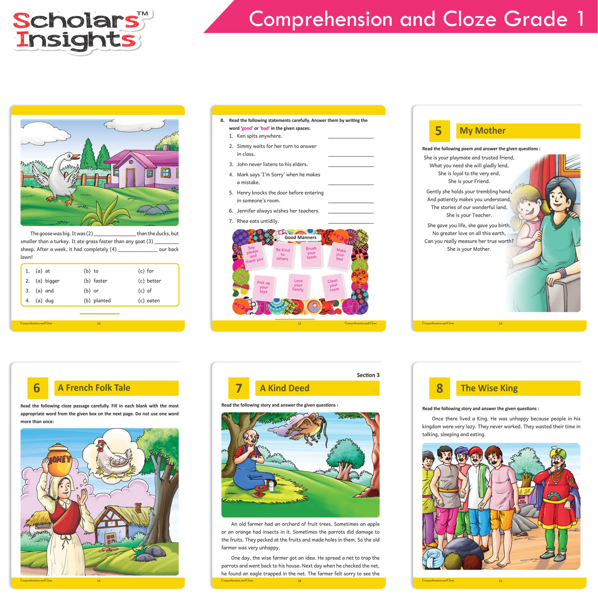 Scholars Insights Comprehension and Cloze Grade 1 4 1