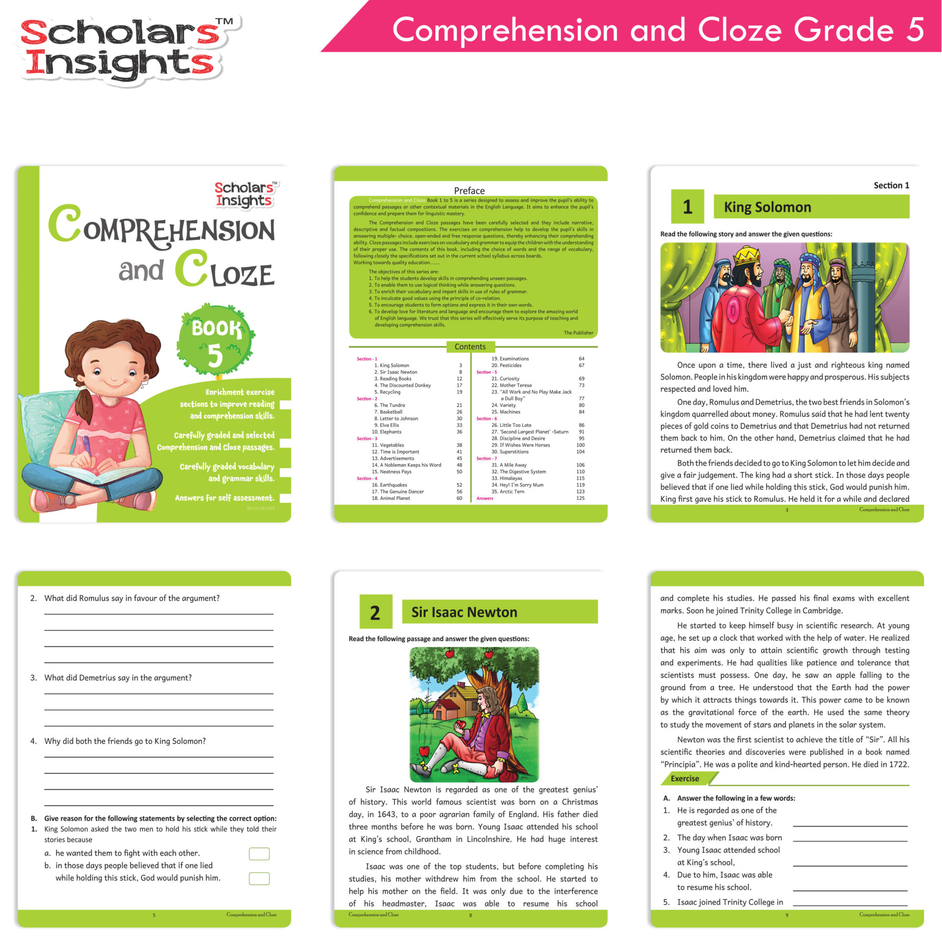 Scholars Insights Comprehension and Cloze Grade 5 3 1