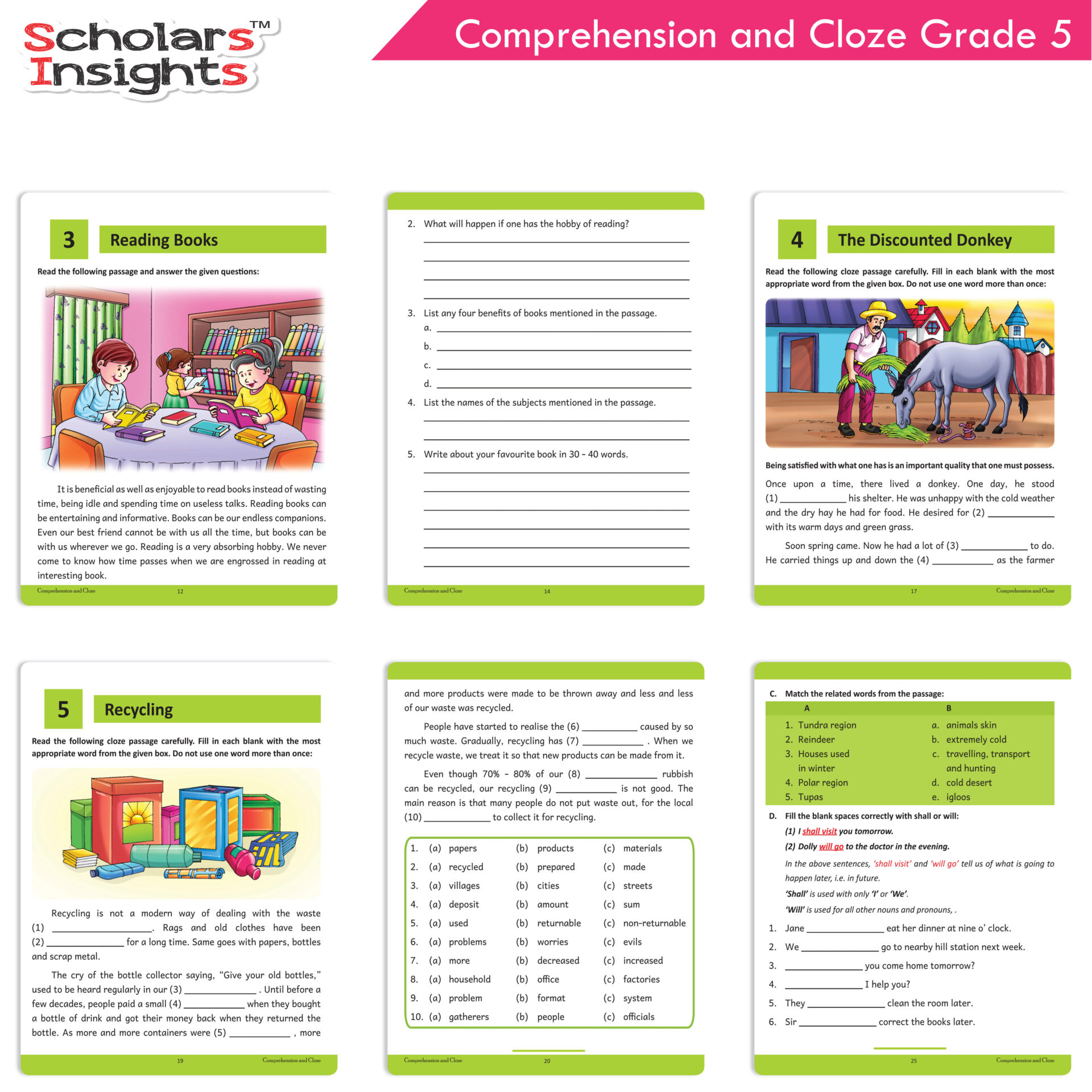 Scholars Insights Comprehension and Cloze Grade 5 4 1