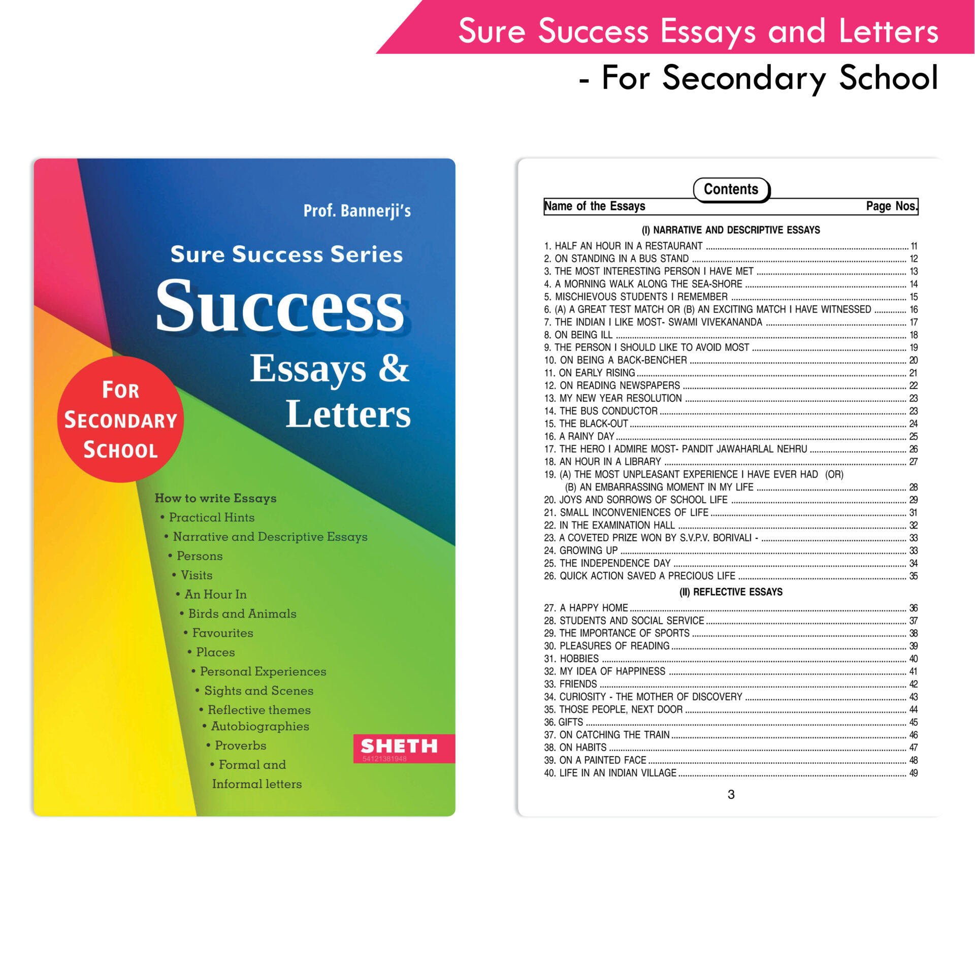 Sure Success Essays and Letters For Secondary School 1